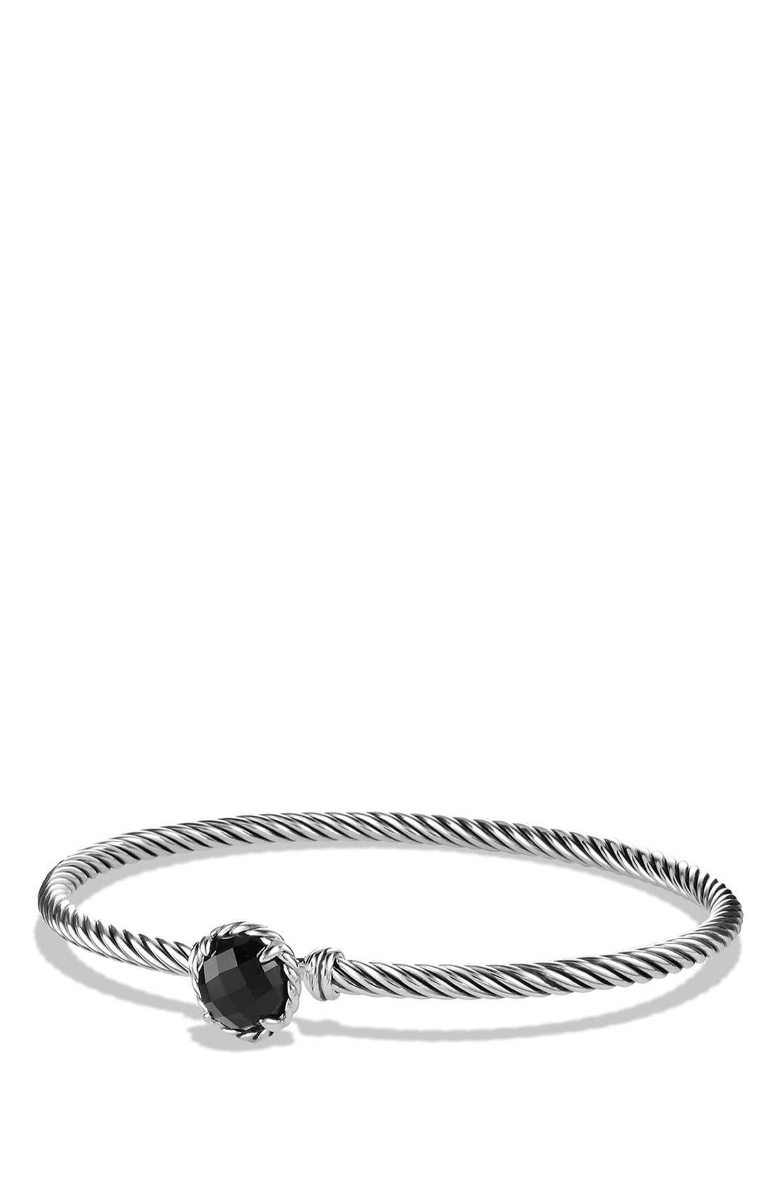 'Color Classics' Bangle Bracelet,                         Main,                         color, Black Onyx