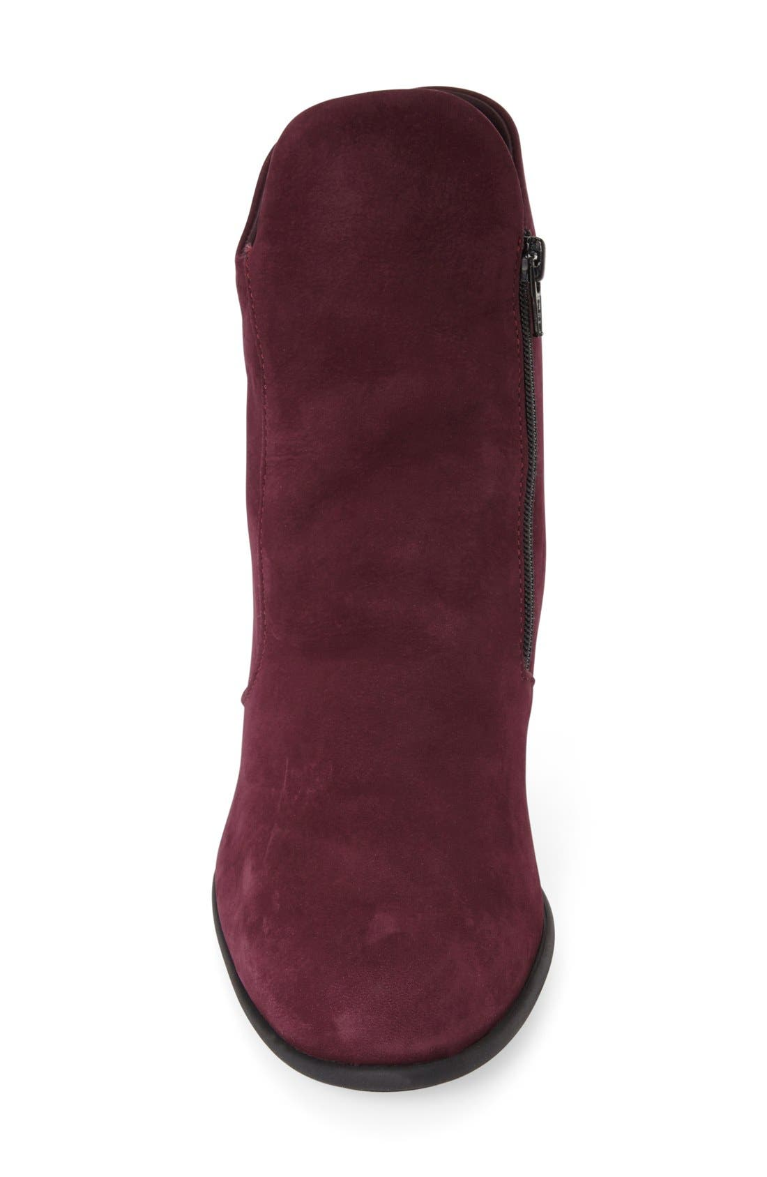 'Musaca' Boot,                             Alternate thumbnail 3, color,                             Berry Nubuck Leather