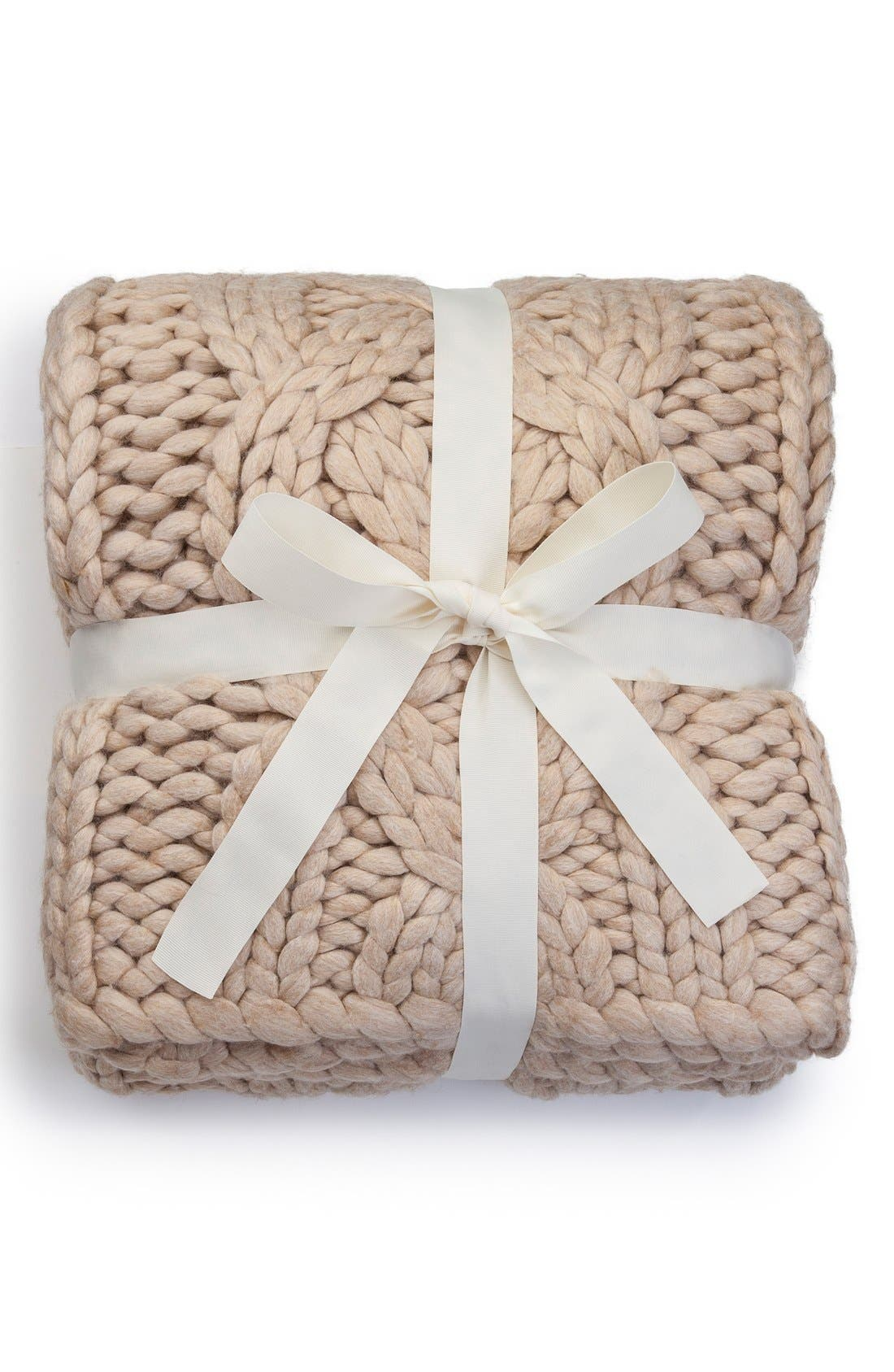 Alternate Image 2  - UGG® Oversize Knit Throw