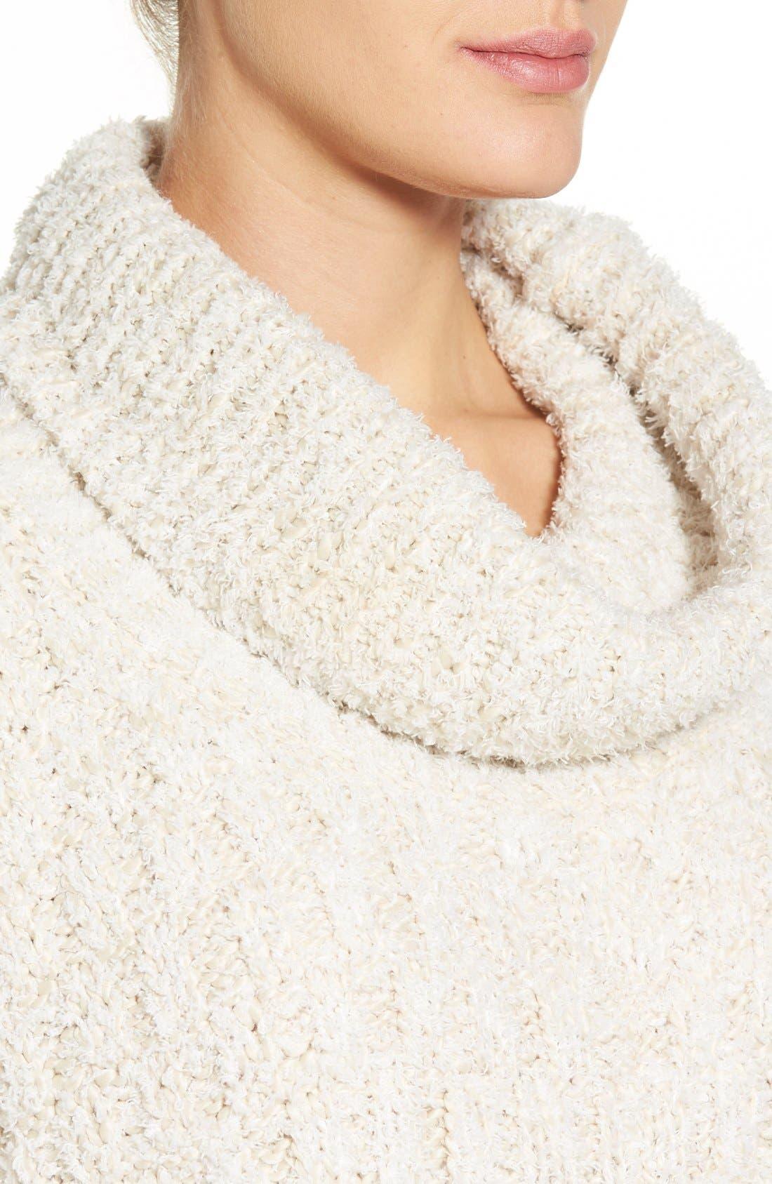 Alternate Image 4  - Chelsea28 Fluffy Turtleneck Sweater