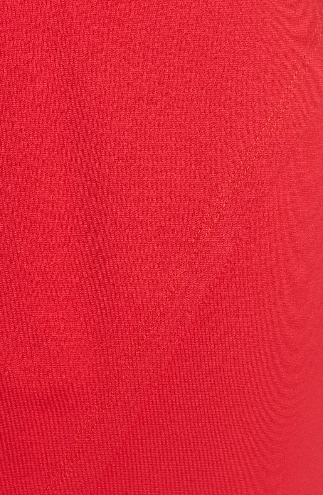 Plunging Jersey Minidress,                             Alternate thumbnail 6, color,                             Red