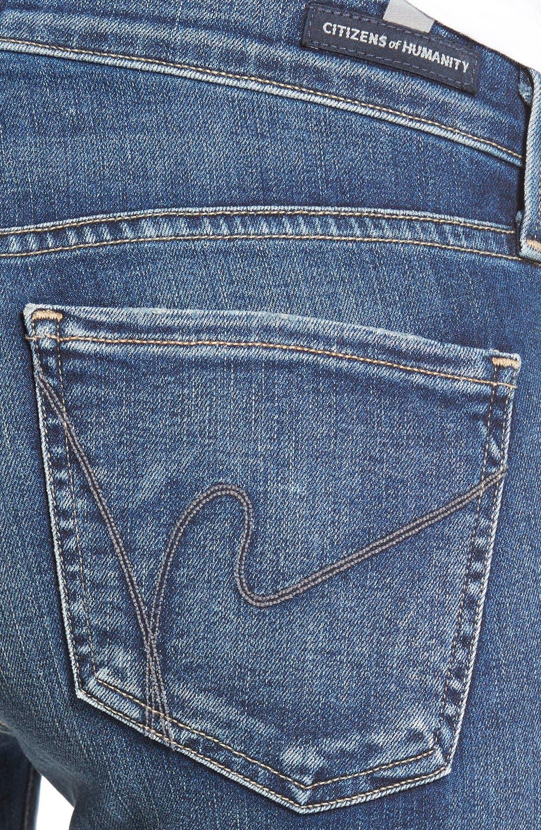 'Emannuelle' Slim BootcutJeans,                             Alternate thumbnail 4, color,                             Modern Love