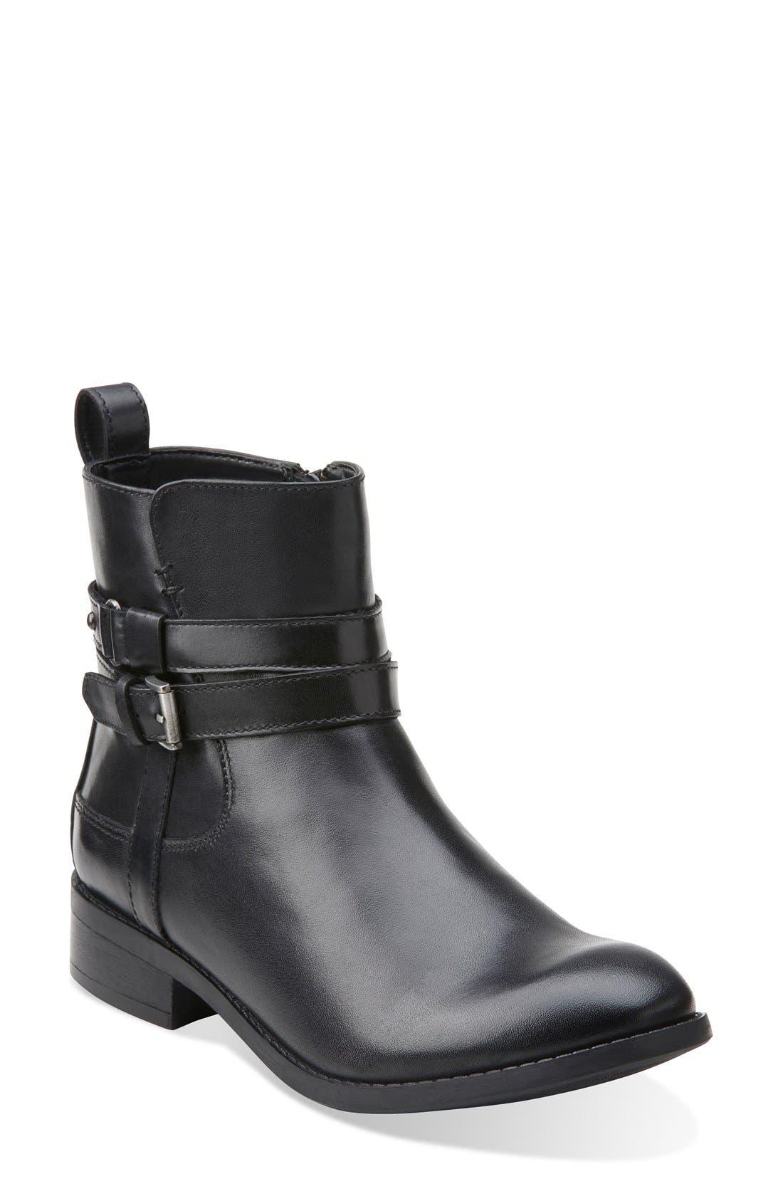 Alternate Image 1 Selected - Clarks® 'Pita Austin' WaterproofAnkle Boot (Women)