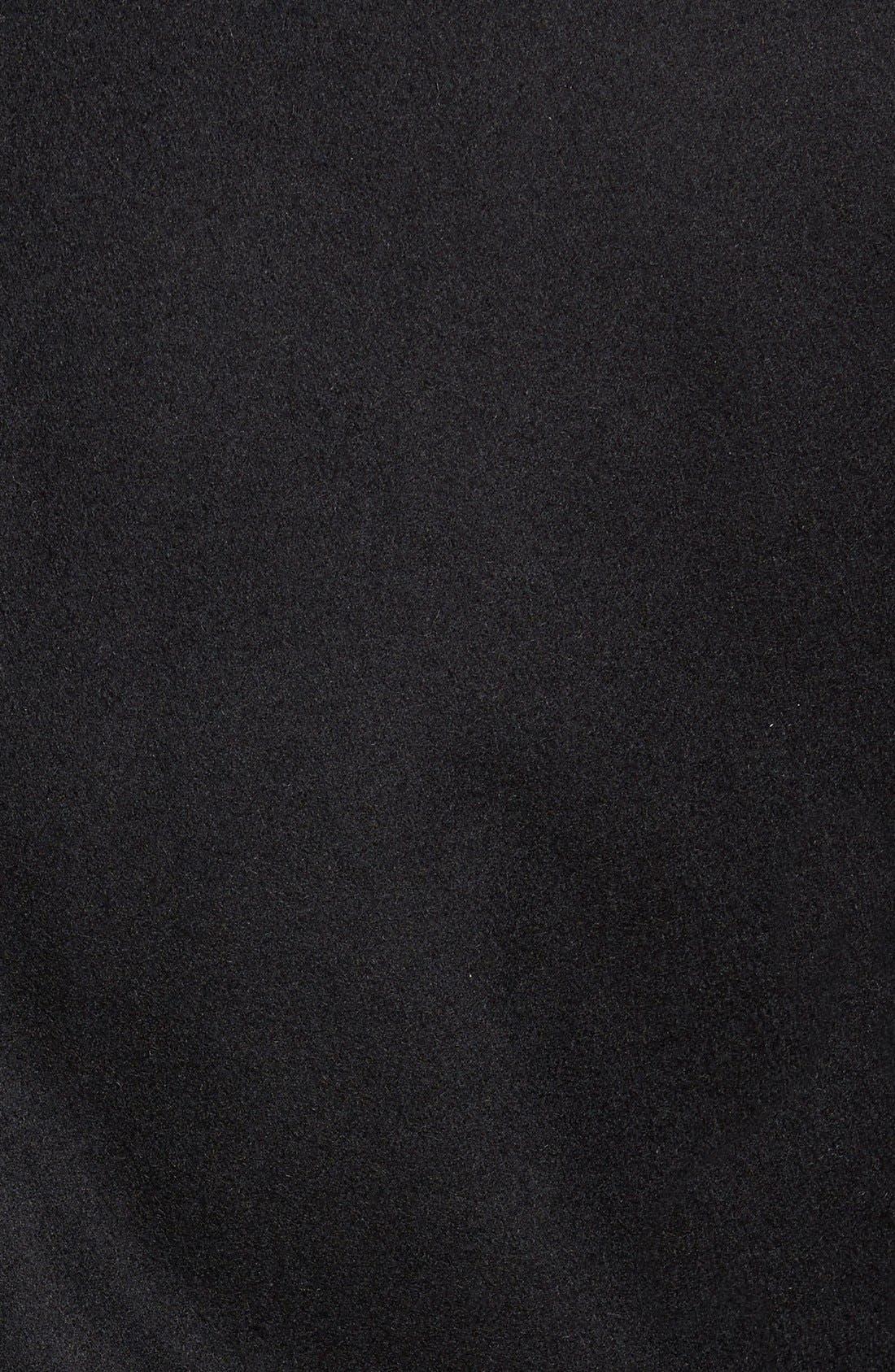 Wool Blend Jacket,                             Alternate thumbnail 2, color,                             Black