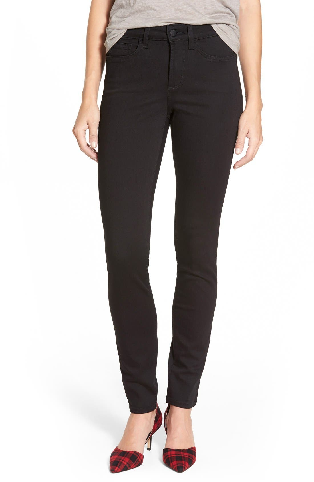 Ami Stretch Skinny Jeans,                         Main,                         color, Black
