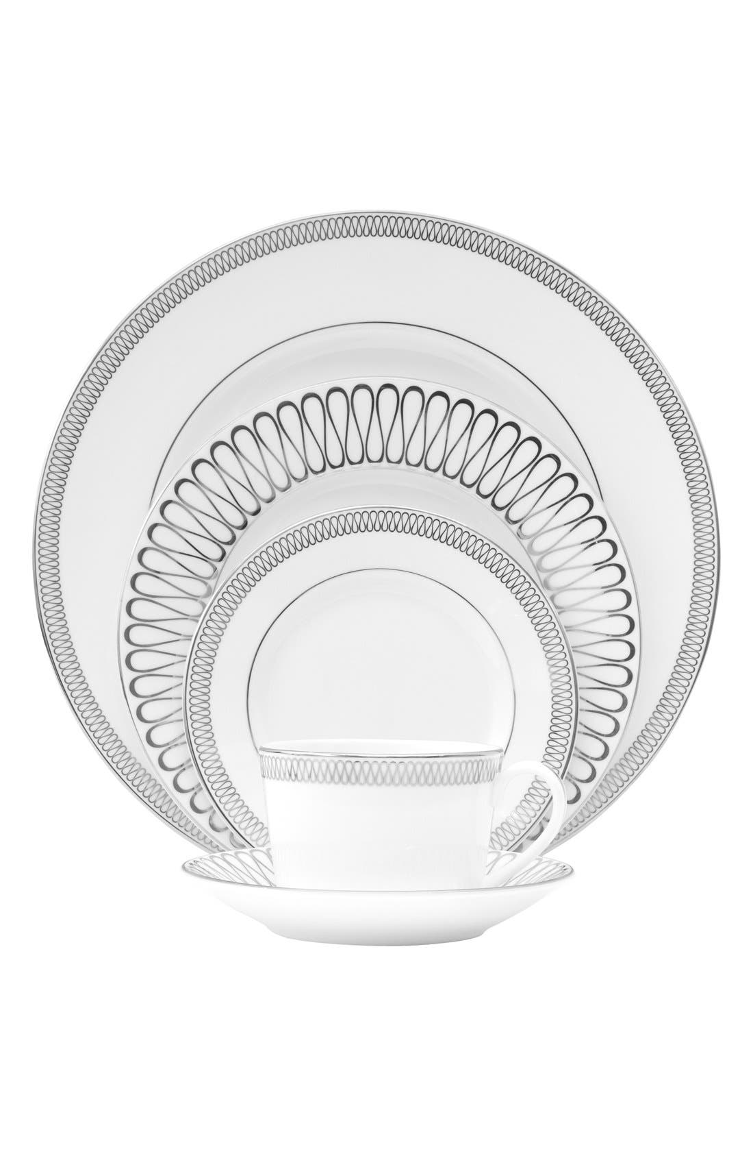 MoniqueLhuillierWaterford 'Opulence' 5-Piece China Place Setting,                             Main thumbnail 1, color,                             Bone