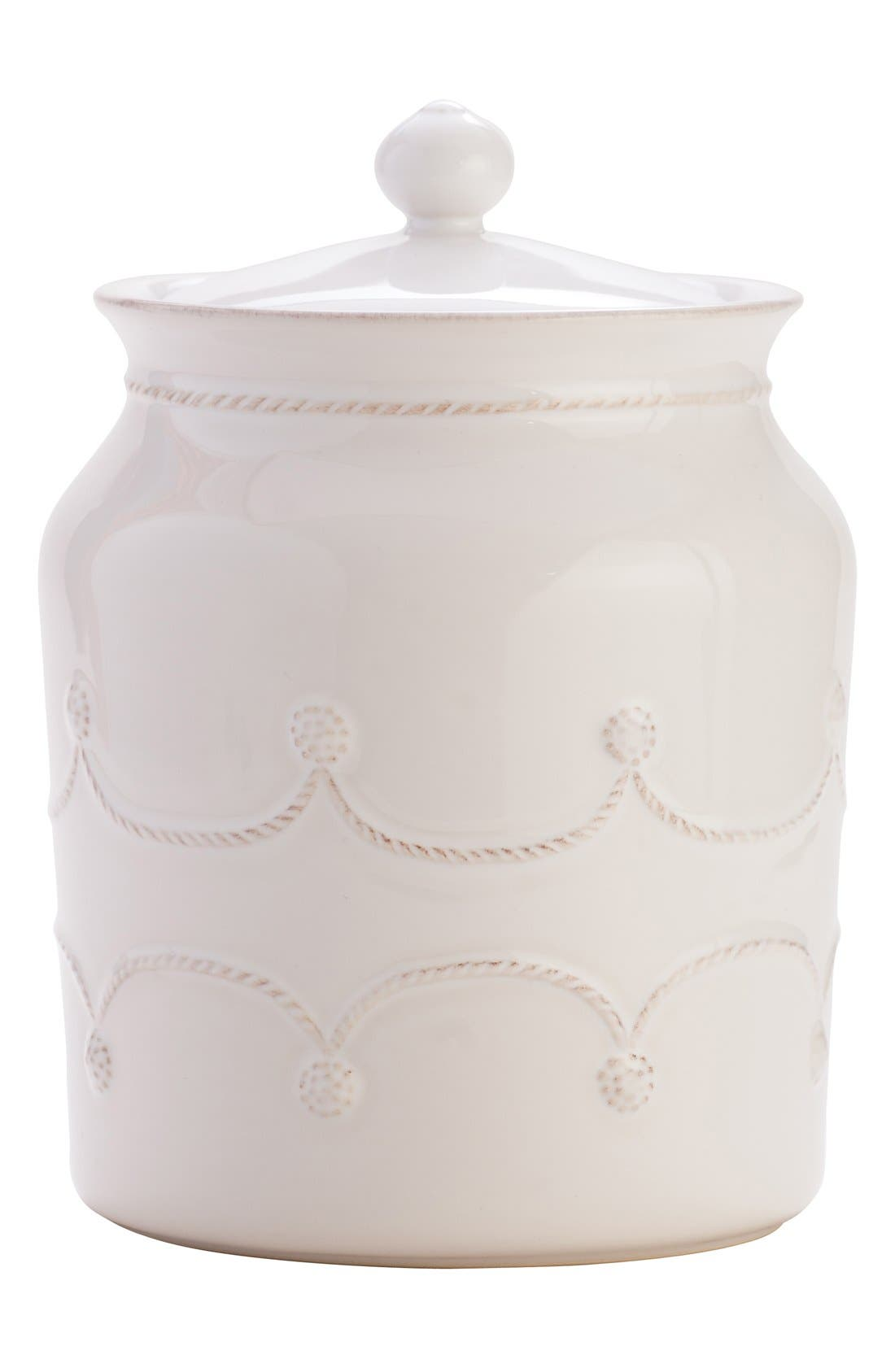 'Berry and Thread' Ceramic Cookie Jar,                         Main,                         color, Whitewash