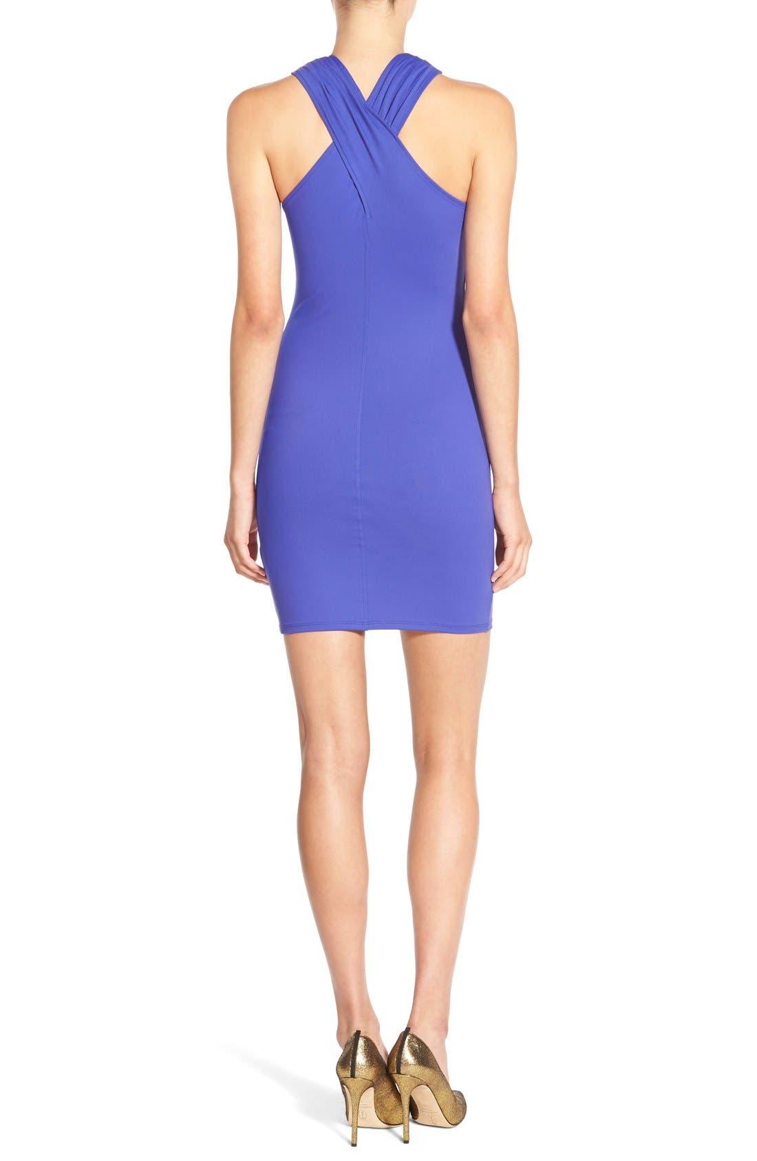 Alternate Image 2  - Leith Cross Neck Body-Con Dress
