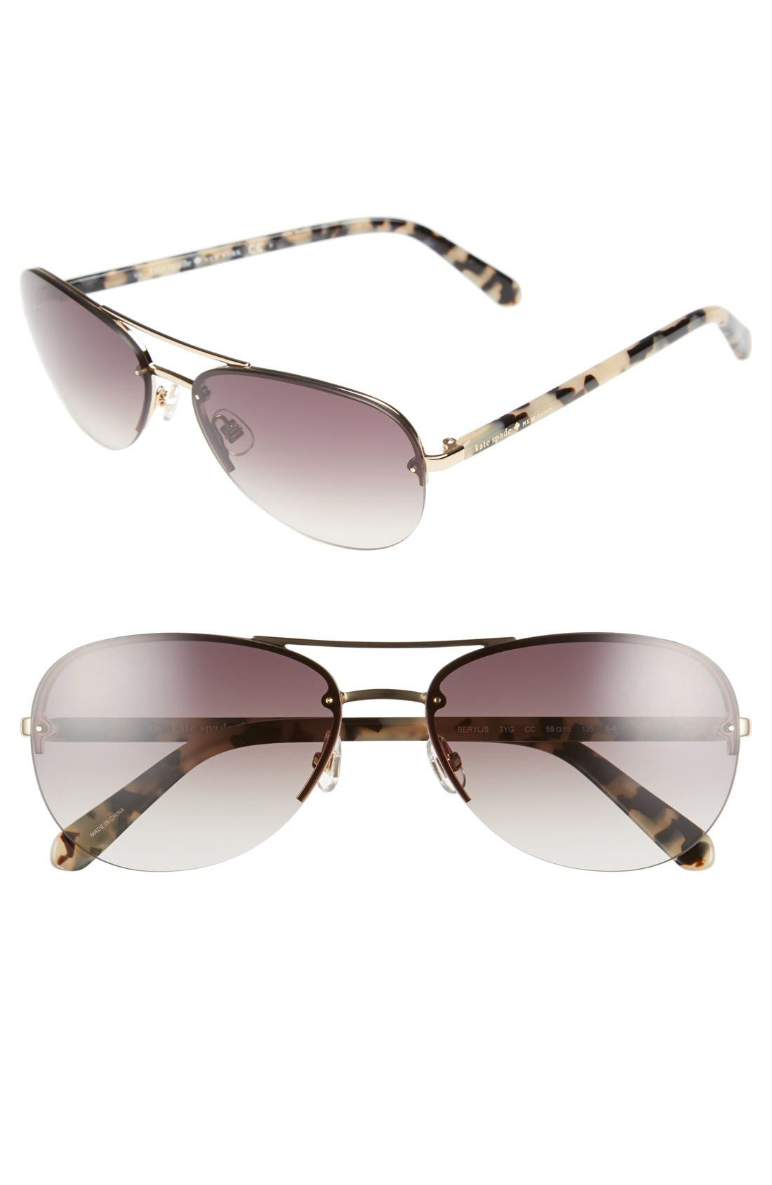 Main Image - kate spade new york 'beryls' 59mm sunglasses