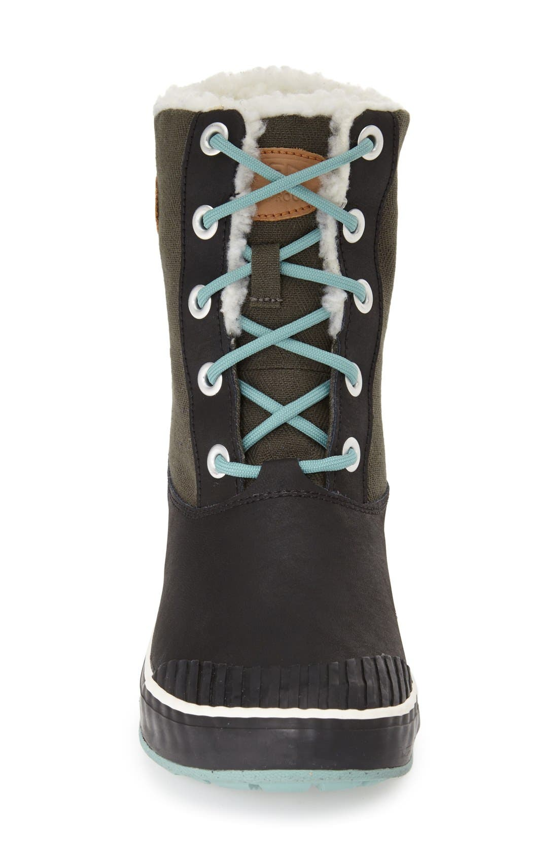 'Elsa' Waterproof Boot,                             Alternate thumbnail 3, color,                             Forset Night
