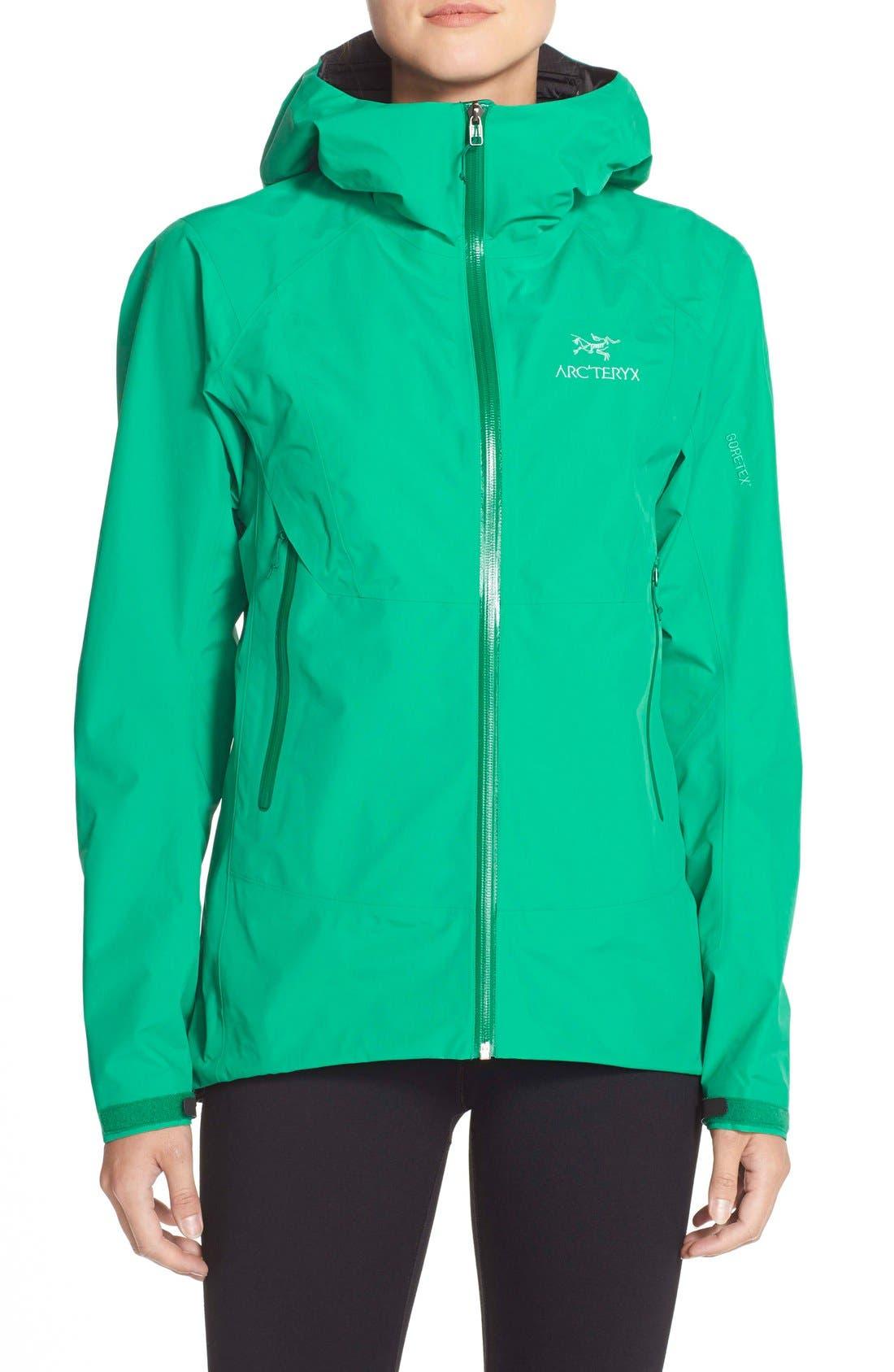 'Beta SL' Waterproof Jacket,                         Main,                         color, Parakeet