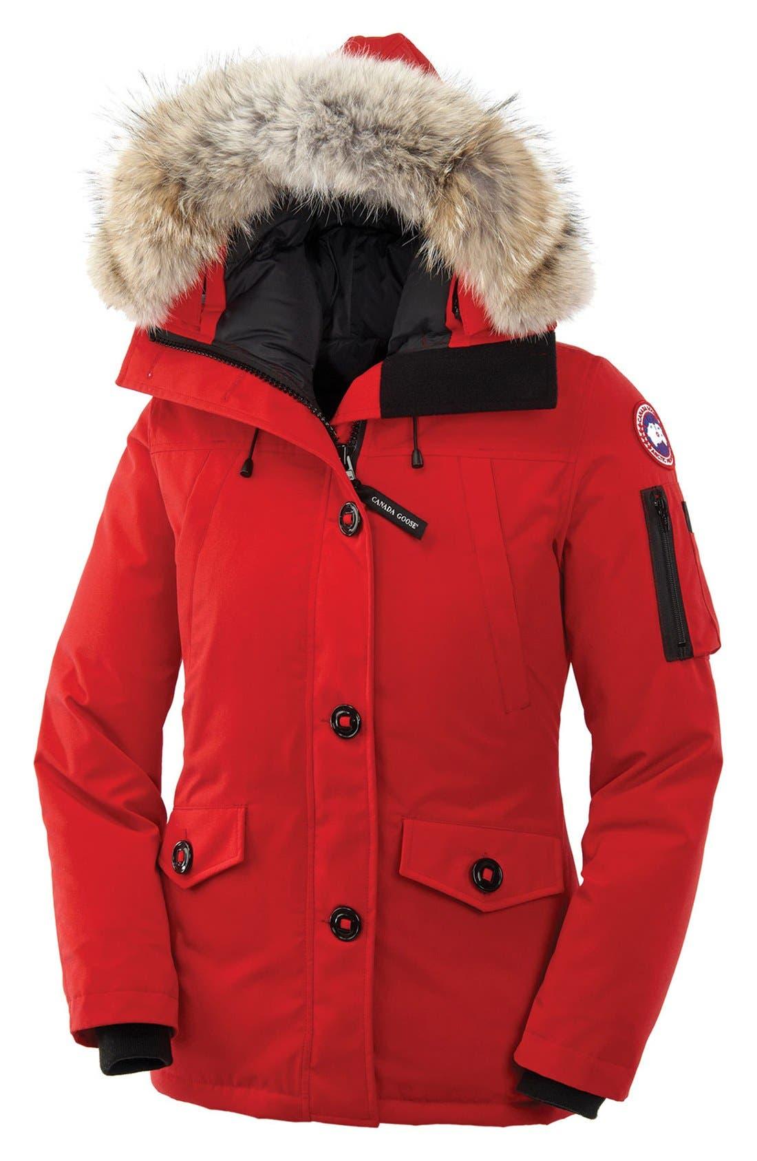 Canada Goose Montebello Slim Fit Down Parka with Genuine Coyote Fur Trim