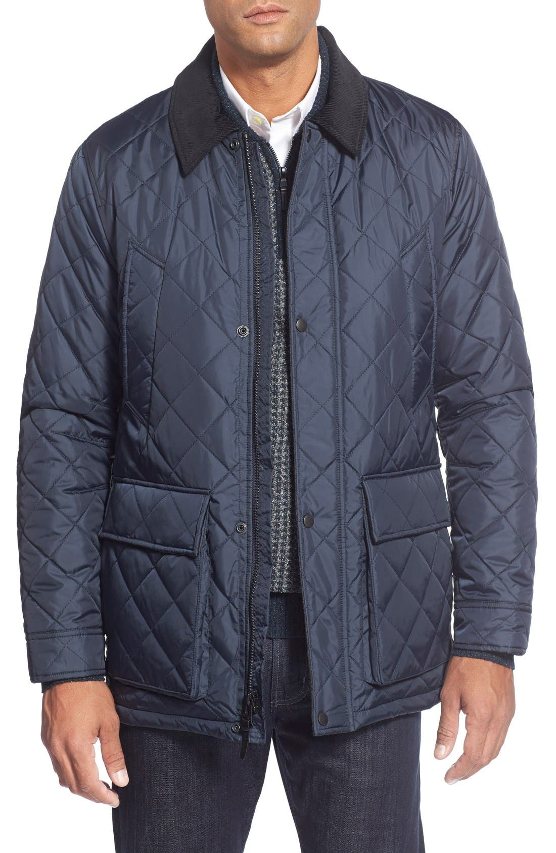 Quilted Jacket,                             Main thumbnail 1, color,                             Navy