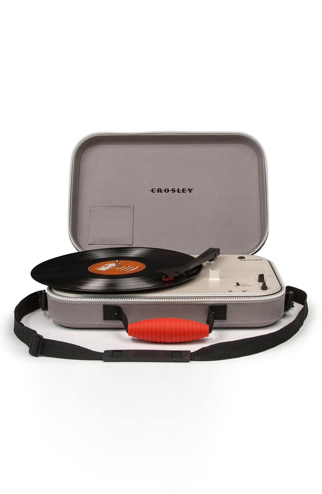 'Messenger' Portable Turntable,                             Alternate thumbnail 2, color,                             Grey