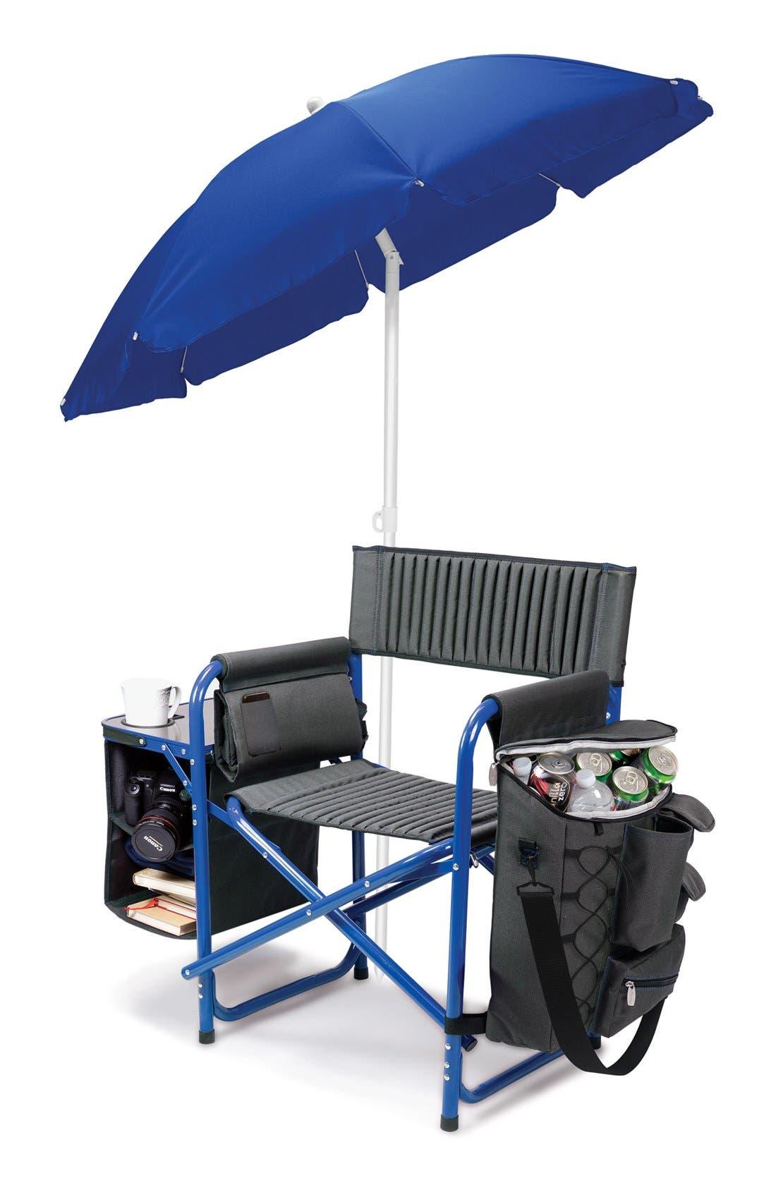 'Fusion' Lawn Chair,                             Alternate thumbnail 3, color,                             Blue