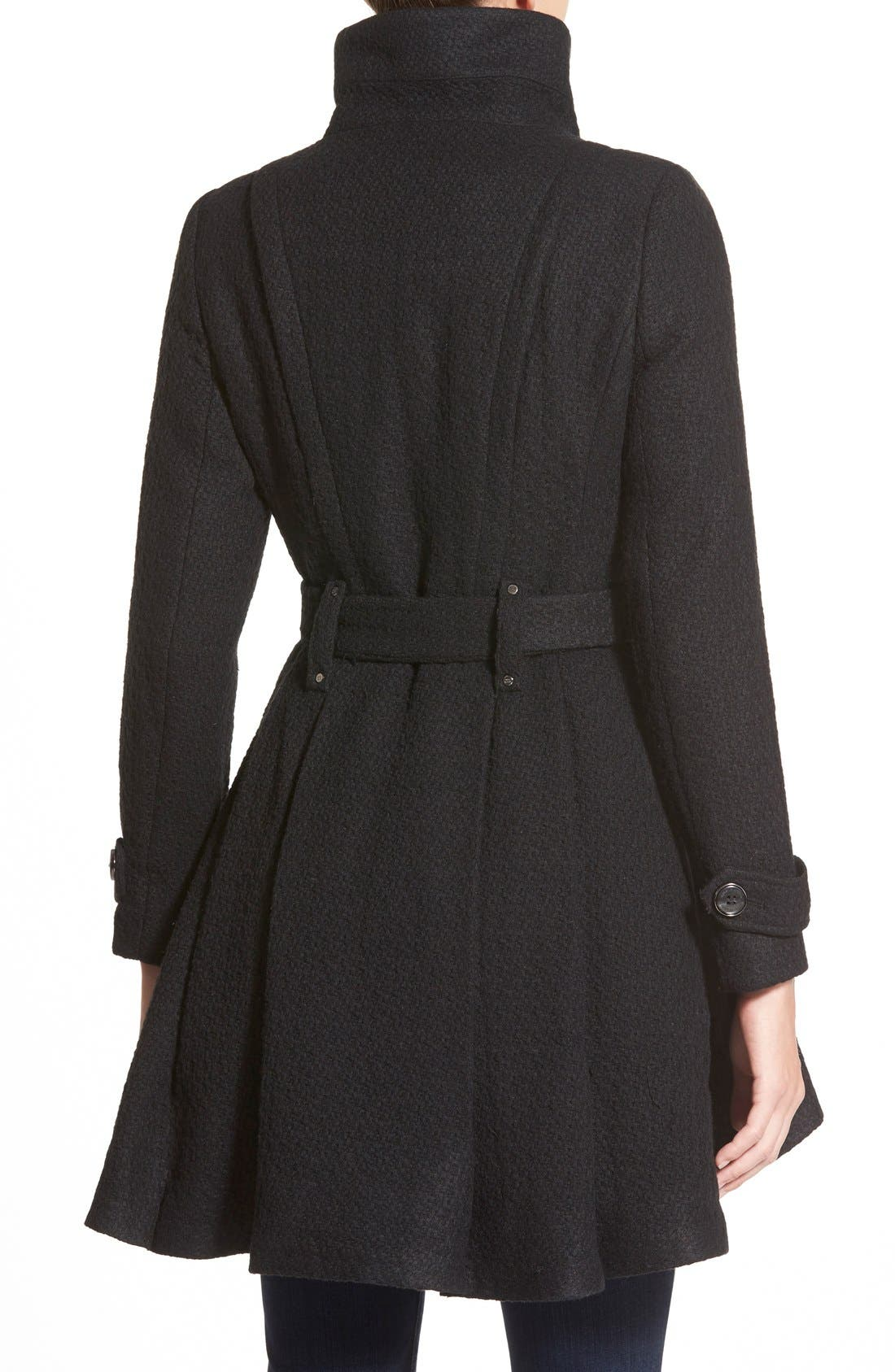 Alternate Image 2  - Steven Madden Asymmetrical Zip Skirted Coat