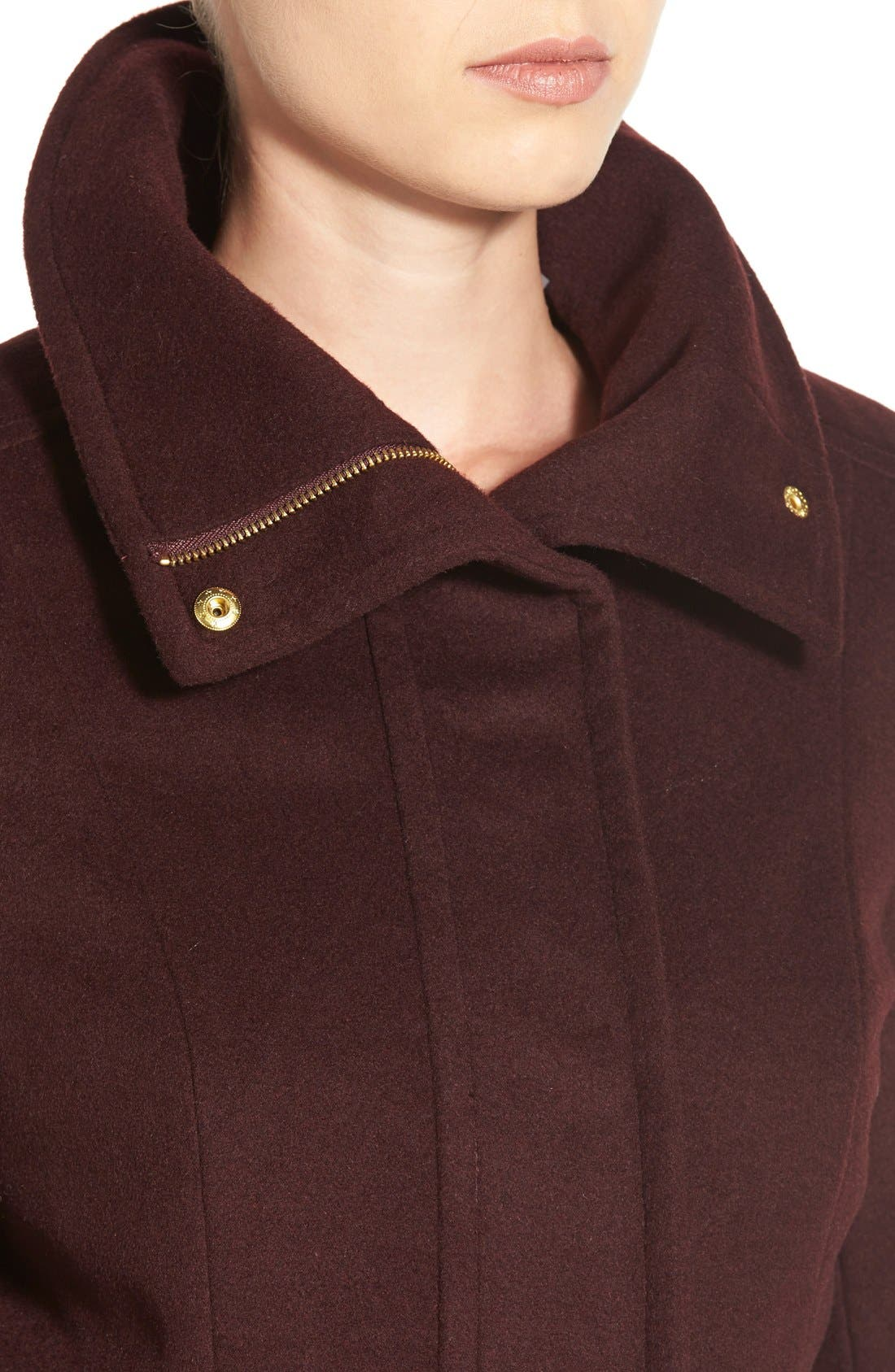 Alternate Image 4  - Cole Haan Signature Stand Collar Wool Blend Coat