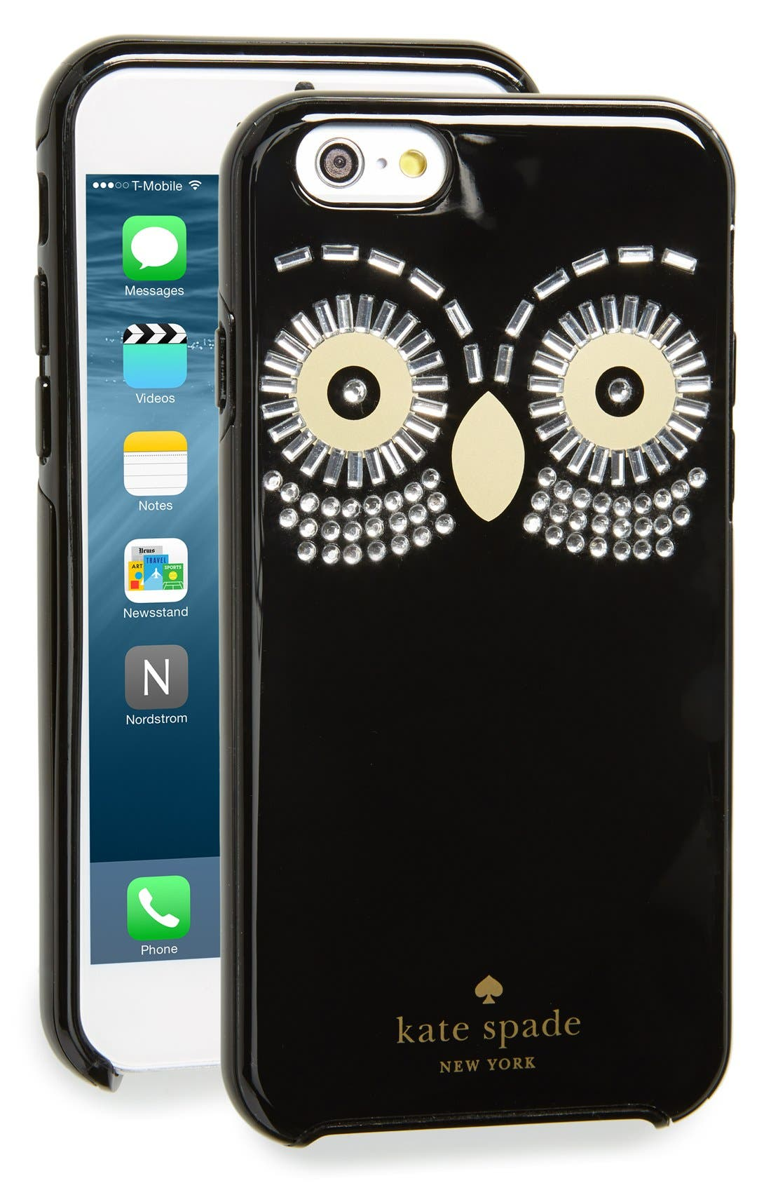 Alternate Image 1 Selected - kate spade new york 'embellished owl' iPhone 6 & 6s case