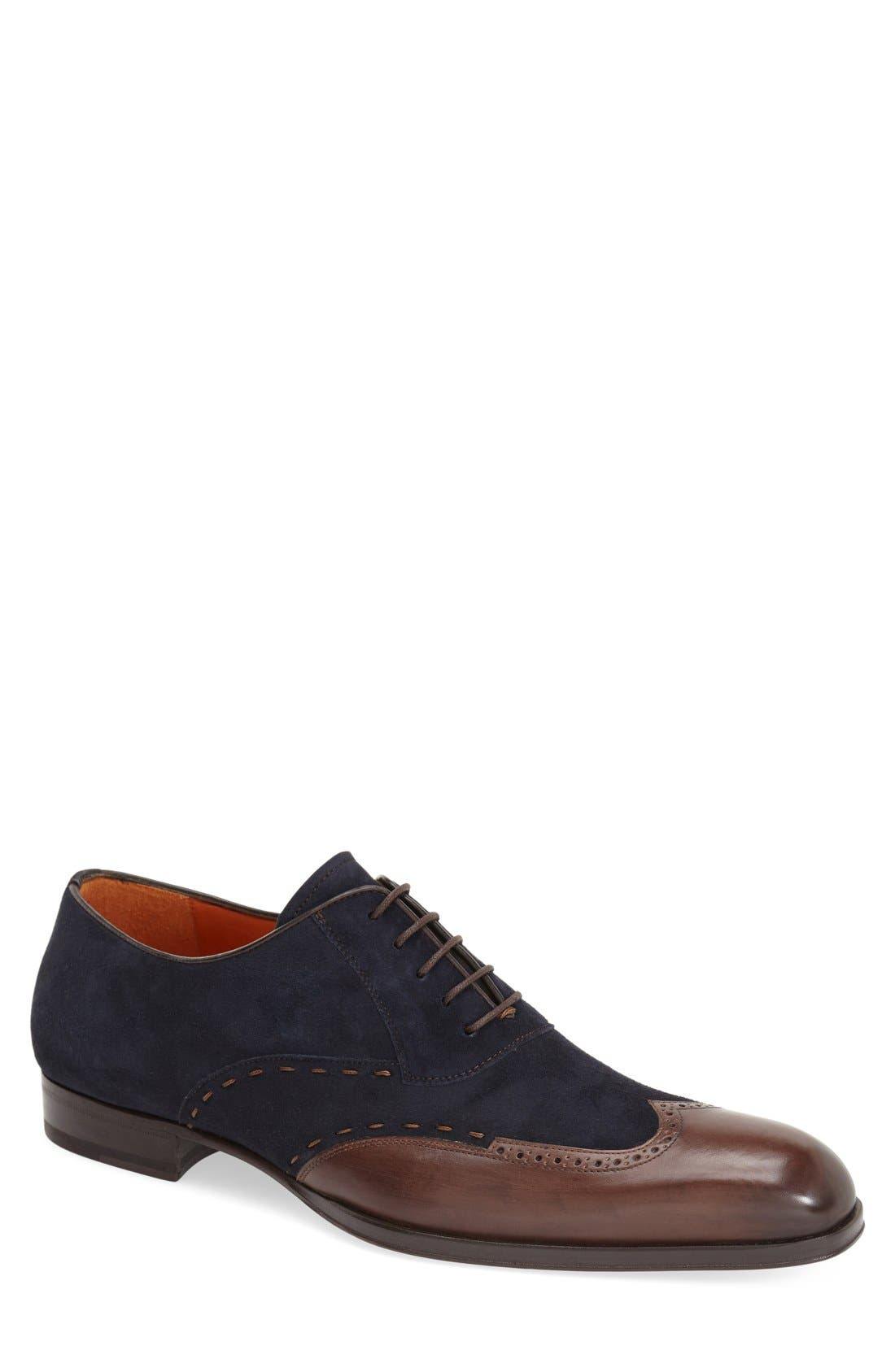 MEZLAN 'Ronda' Spectator Shoe in Dark Brown/ Navy