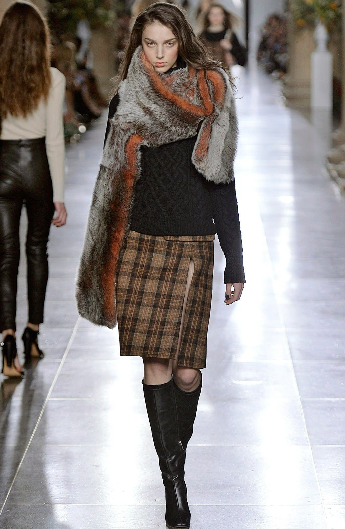 Main Image - Topshop Unique 'Inverness' Plaid A-Line Skirt