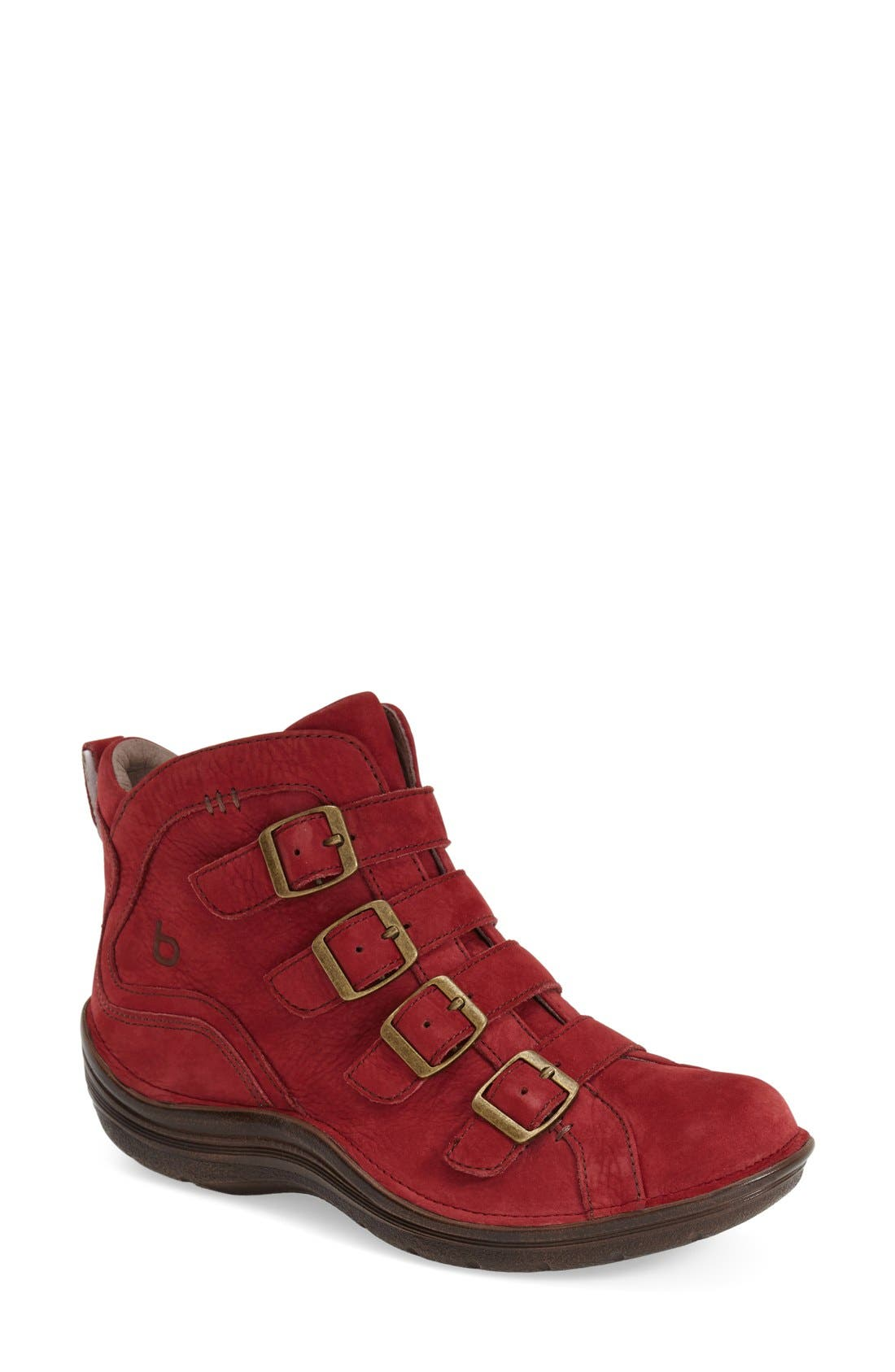 'Orion' Bootie,                         Main,                         color, Red Leather
