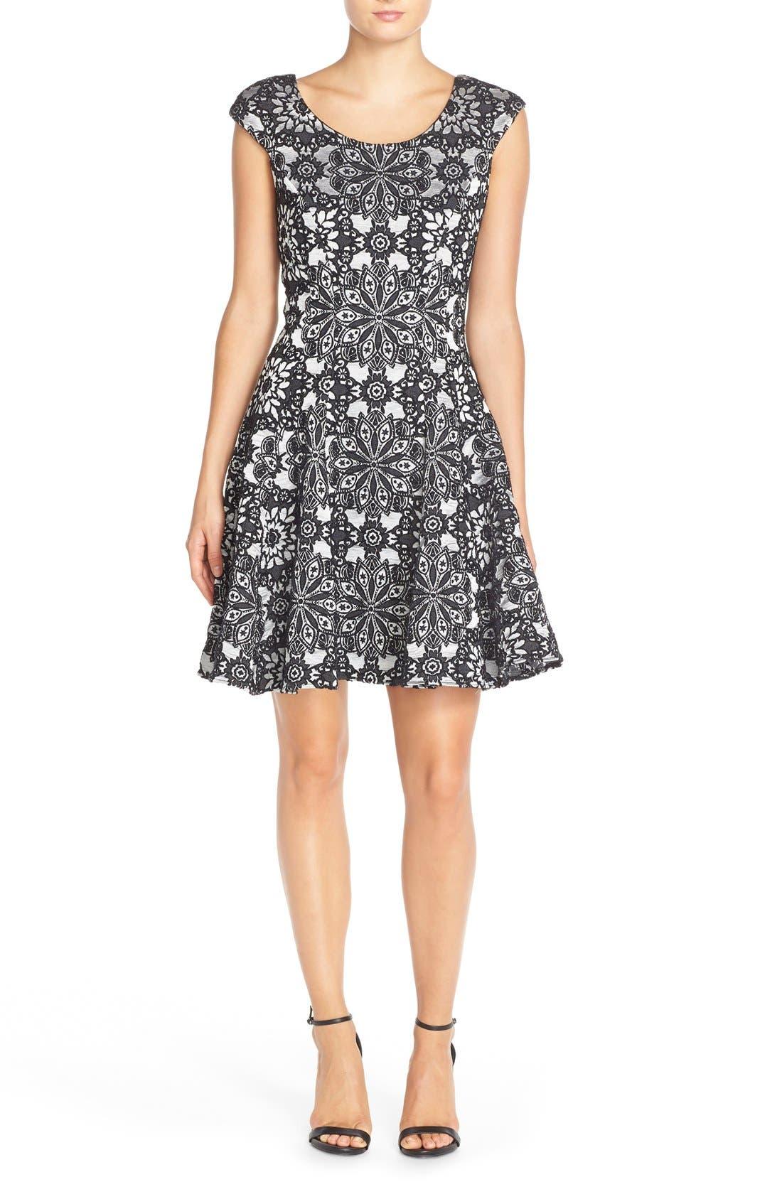 Alternate Image 4  - Betsey Johnson Floral Fit & Flare Dress