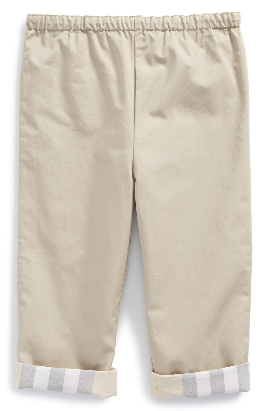 Burberry 'Darcy' Reversible Pants (Toddler Boys)