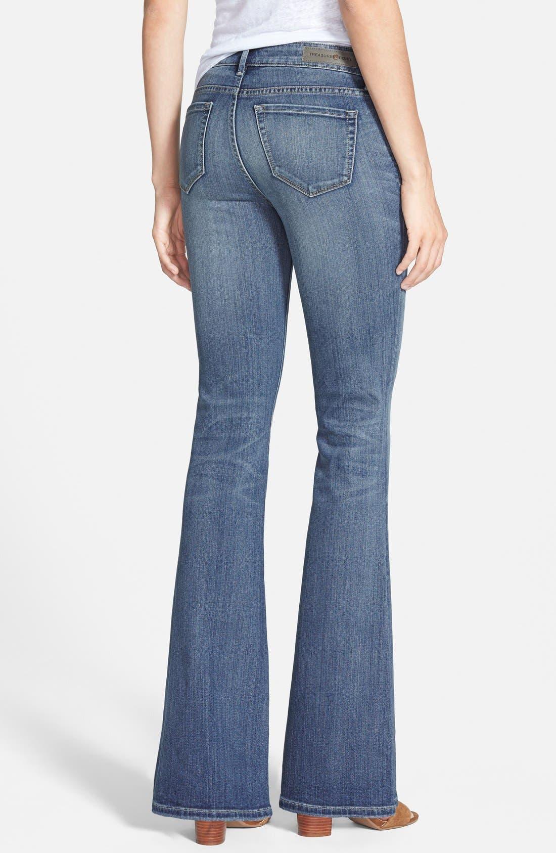 Alternate Image 2  - Treasure&Bond Skinny Flare Jeans (Mode Medium Vintage)
