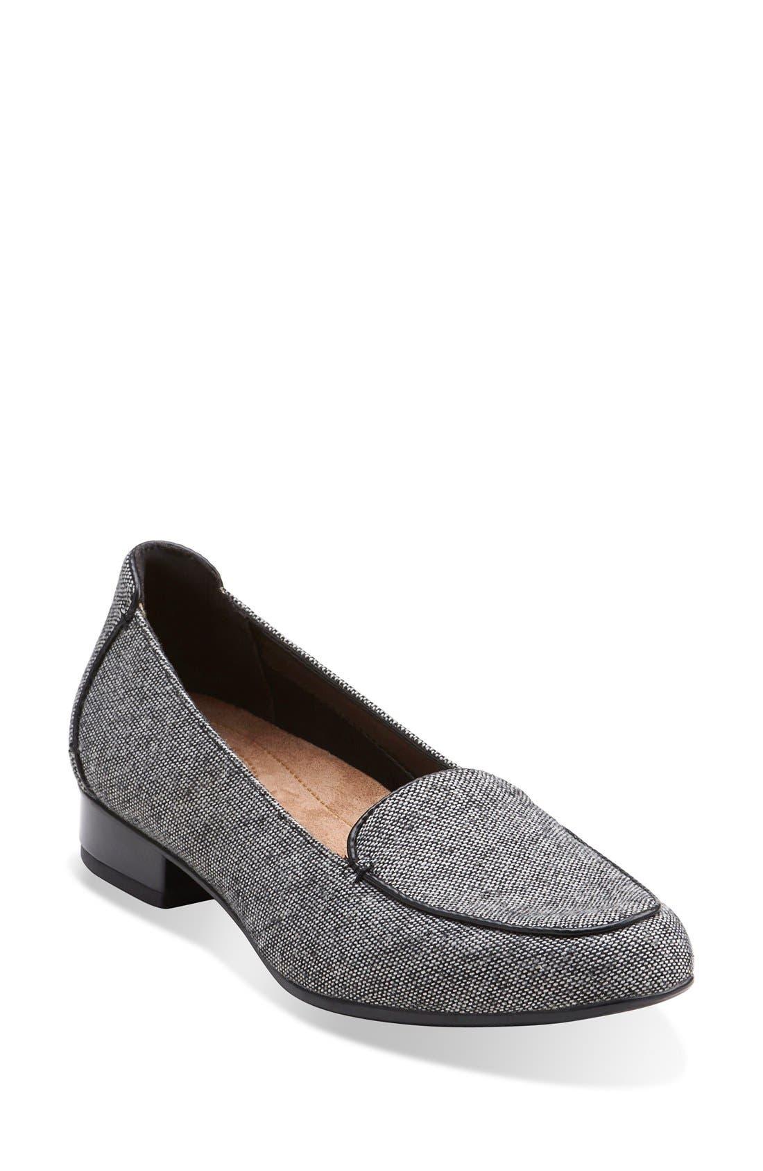 'KeeshaLuca' Loafer,                             Main thumbnail 1, color,                             Grey Tweed