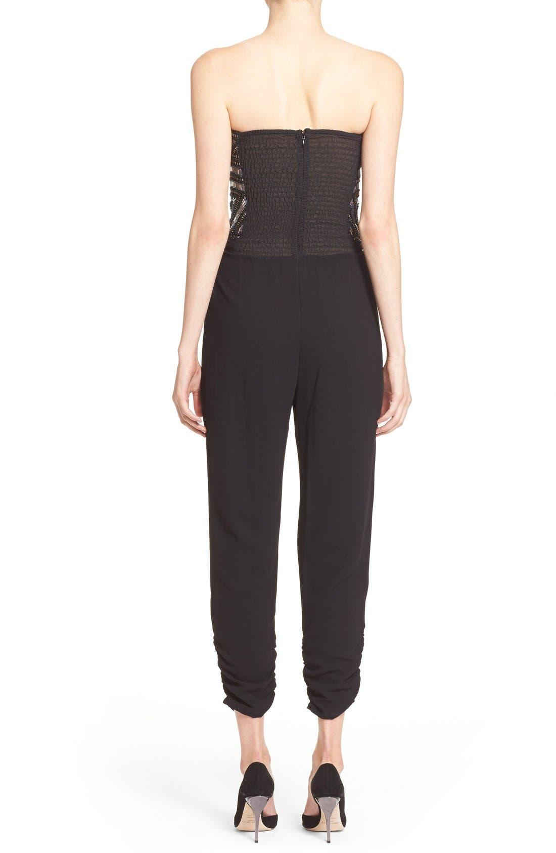 Alternate Image 2  - Parker 'Giovanna' Embellished Strapless Jumpsuit