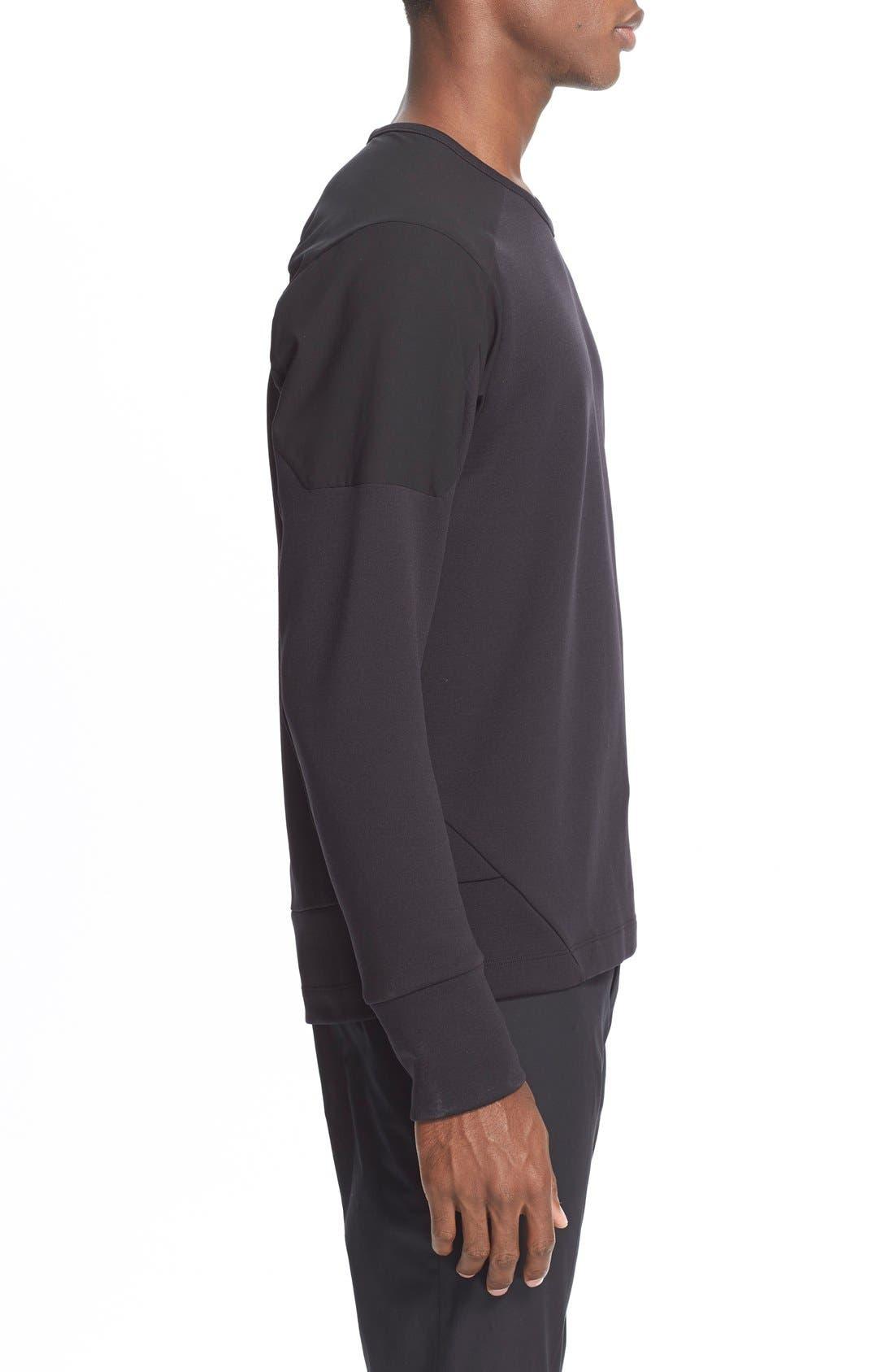 Arc'teryxVeilance'Graph' Sweater,                             Alternate thumbnail 3, color,                             Black