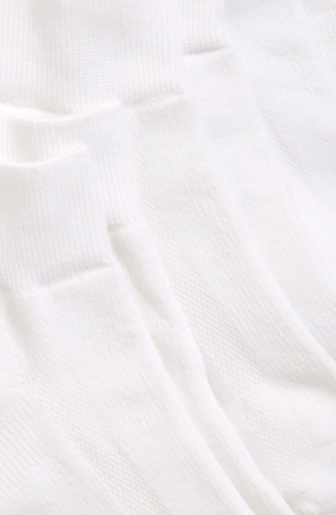 Alternate Image 4  - Zella Quarter Socks (3-Pack)