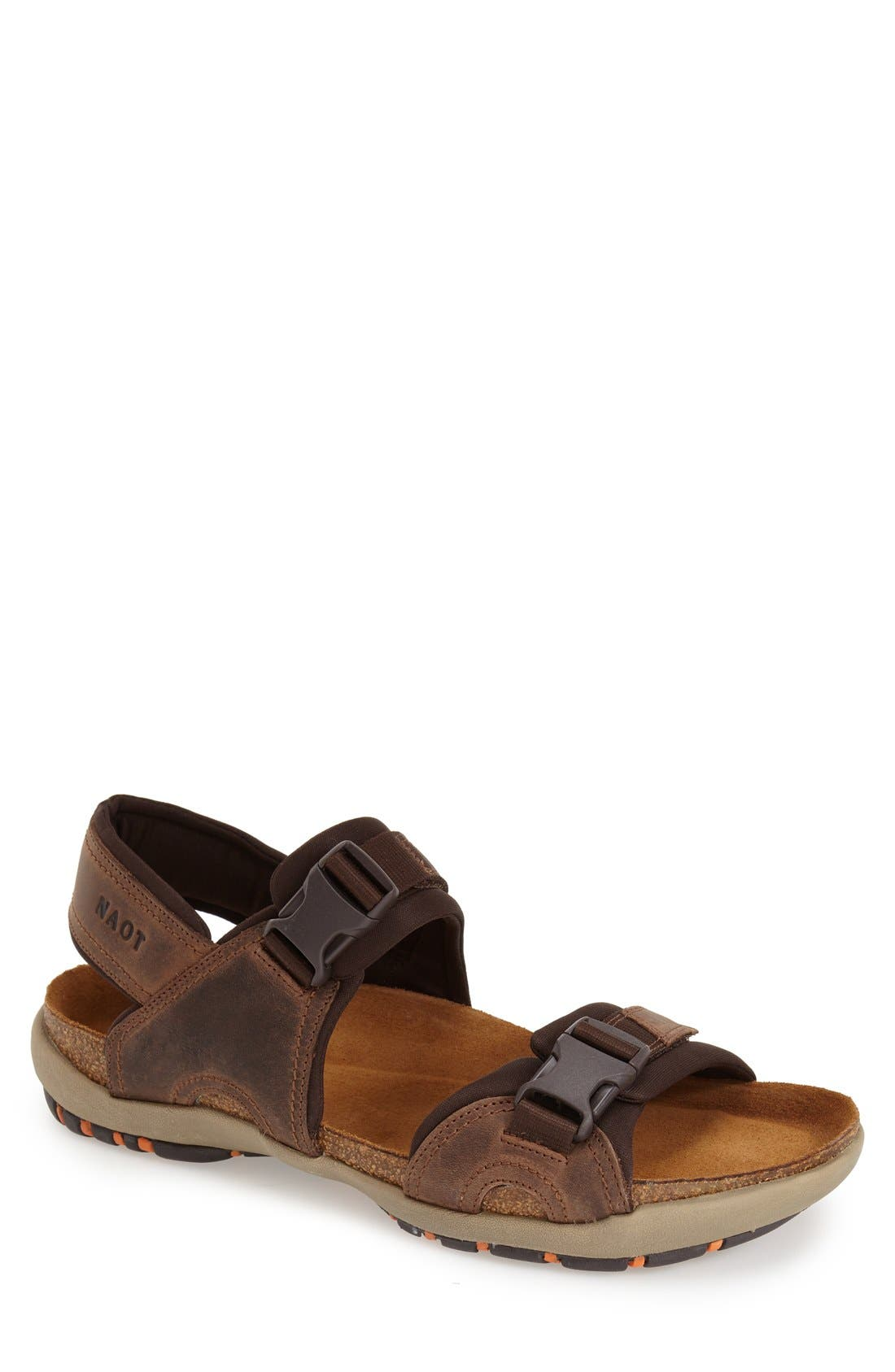 Explorer Sandal,                         Main,                         color, Bison Leather