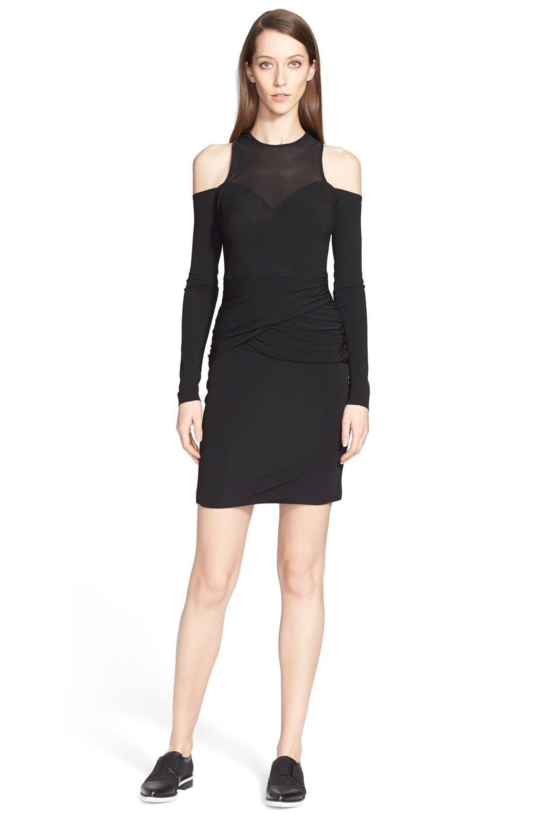 Alternate Image 1 Selected - Yigal Azrouël Cold Shoulder Jersey Dress