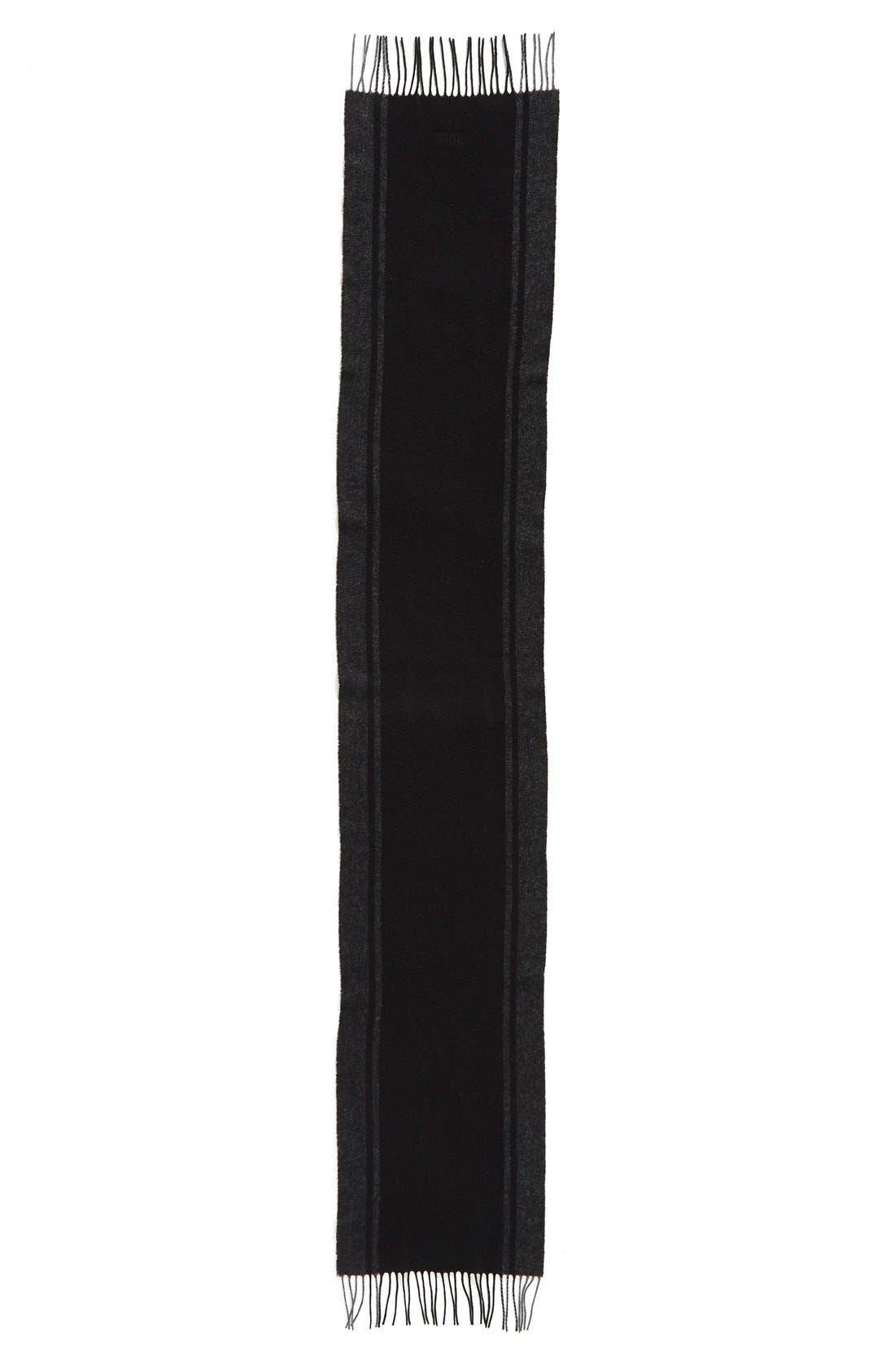 Alternate Image 2  - BOSS 'Albarello-3' Stripe Wool & Cashmere Scarf