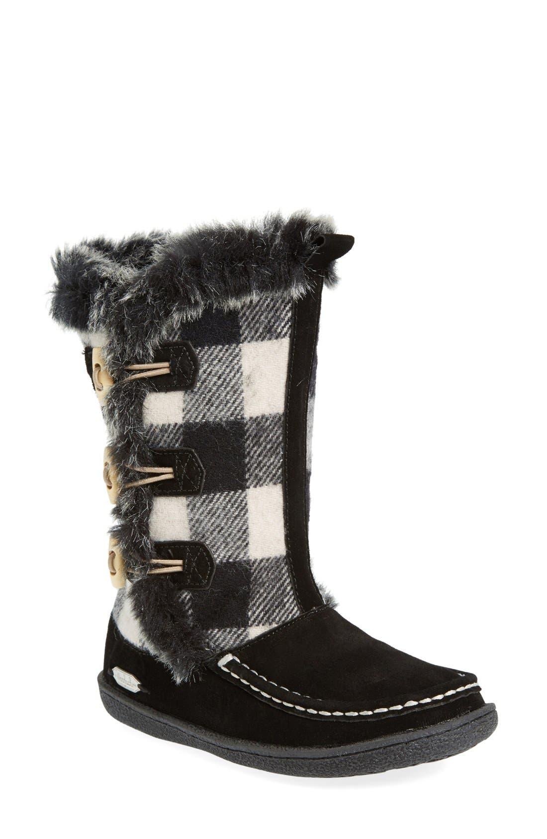 'Elk Creek' Boot,                             Main thumbnail 1, color,                             Black/ Buffalo Wool