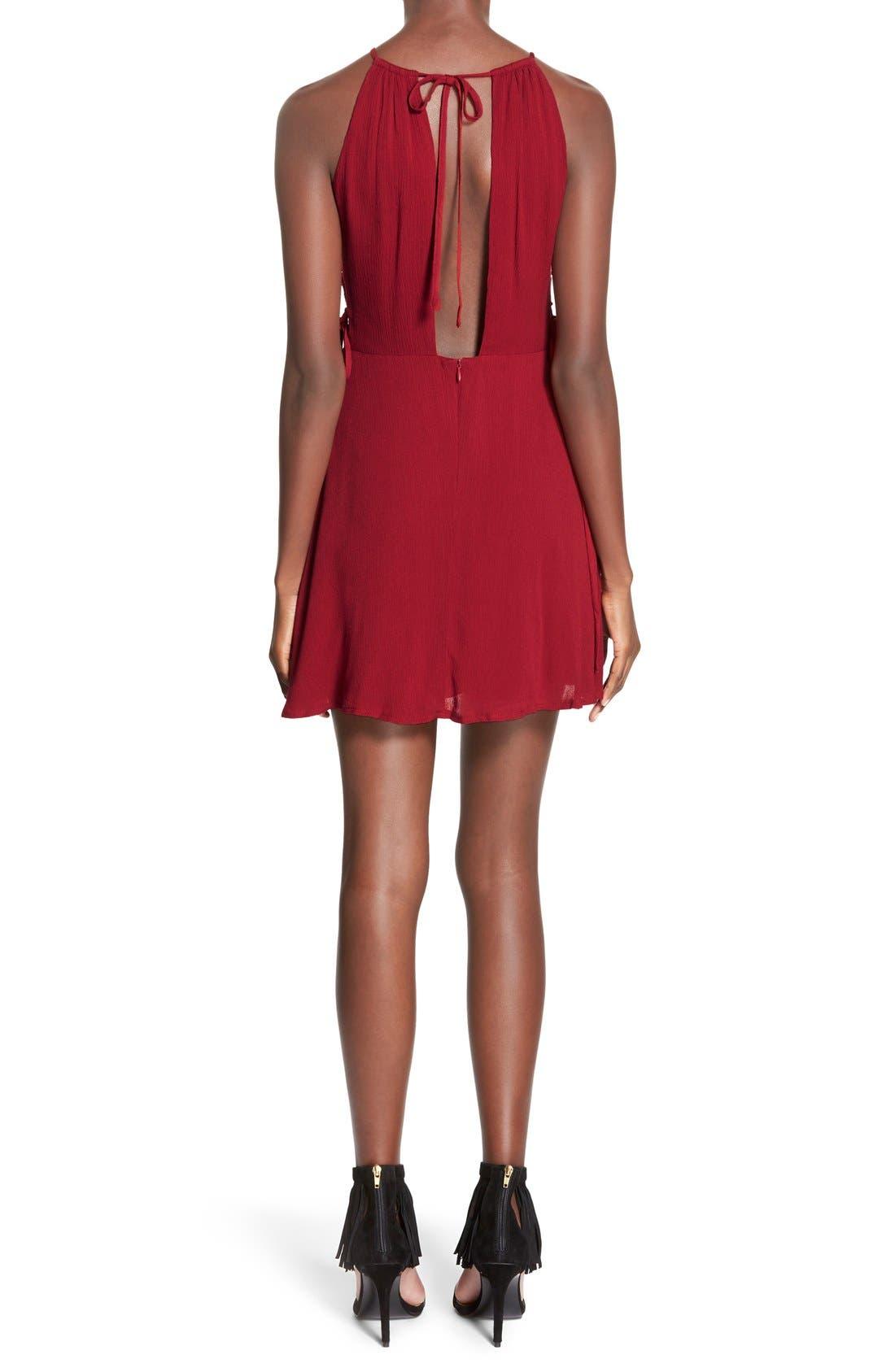 Alternate Image 2  - MissguidedSide Lace-Up Skater Dress