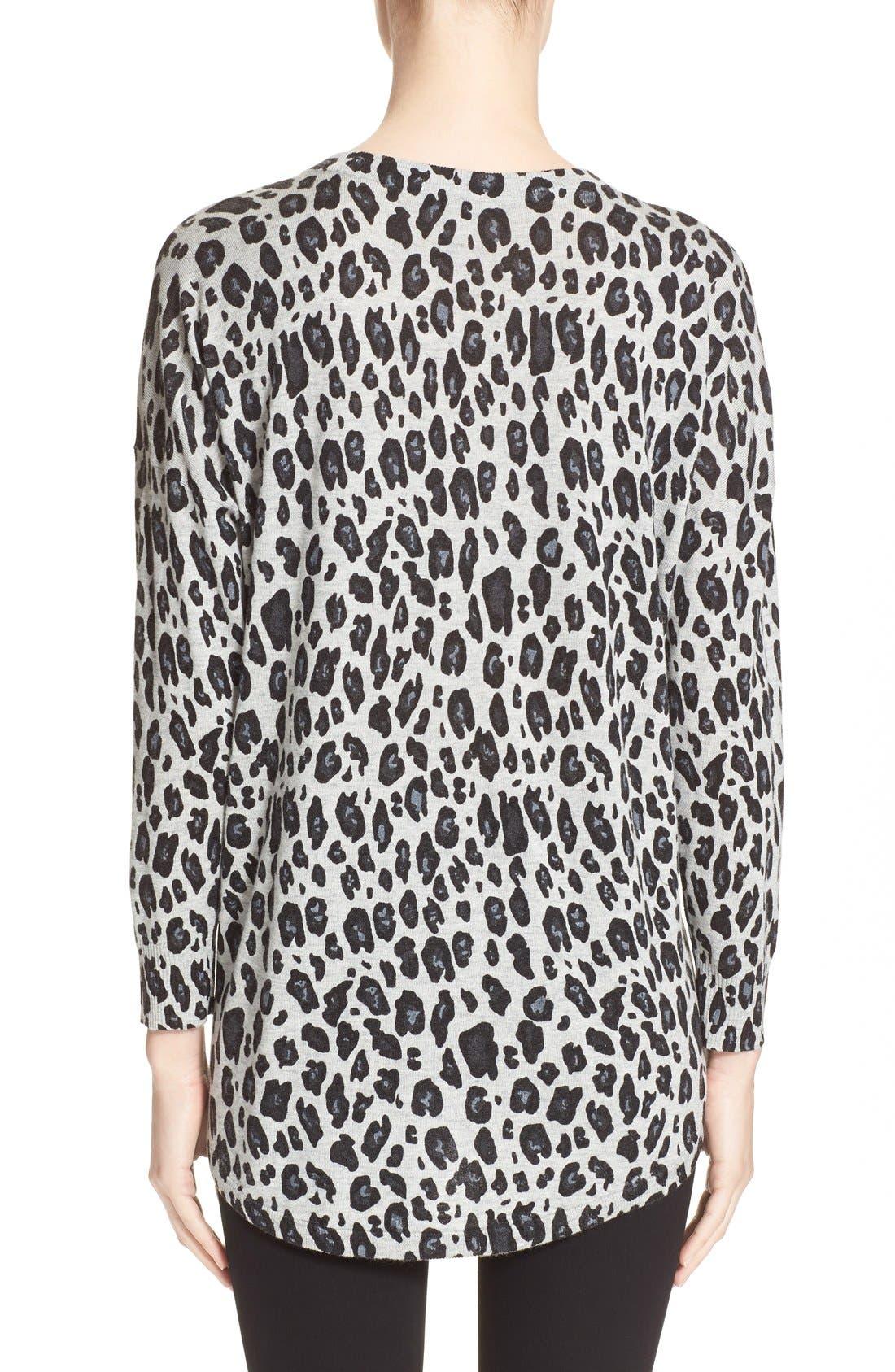 Alternate Image 2  - Joie'Chyanne' Leopard Print V-Neck Pullover