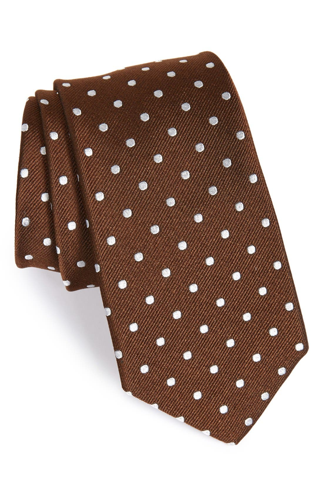 Alternate Image 1 Selected - Gitman Polka Dot Silk Tie (X-Long)