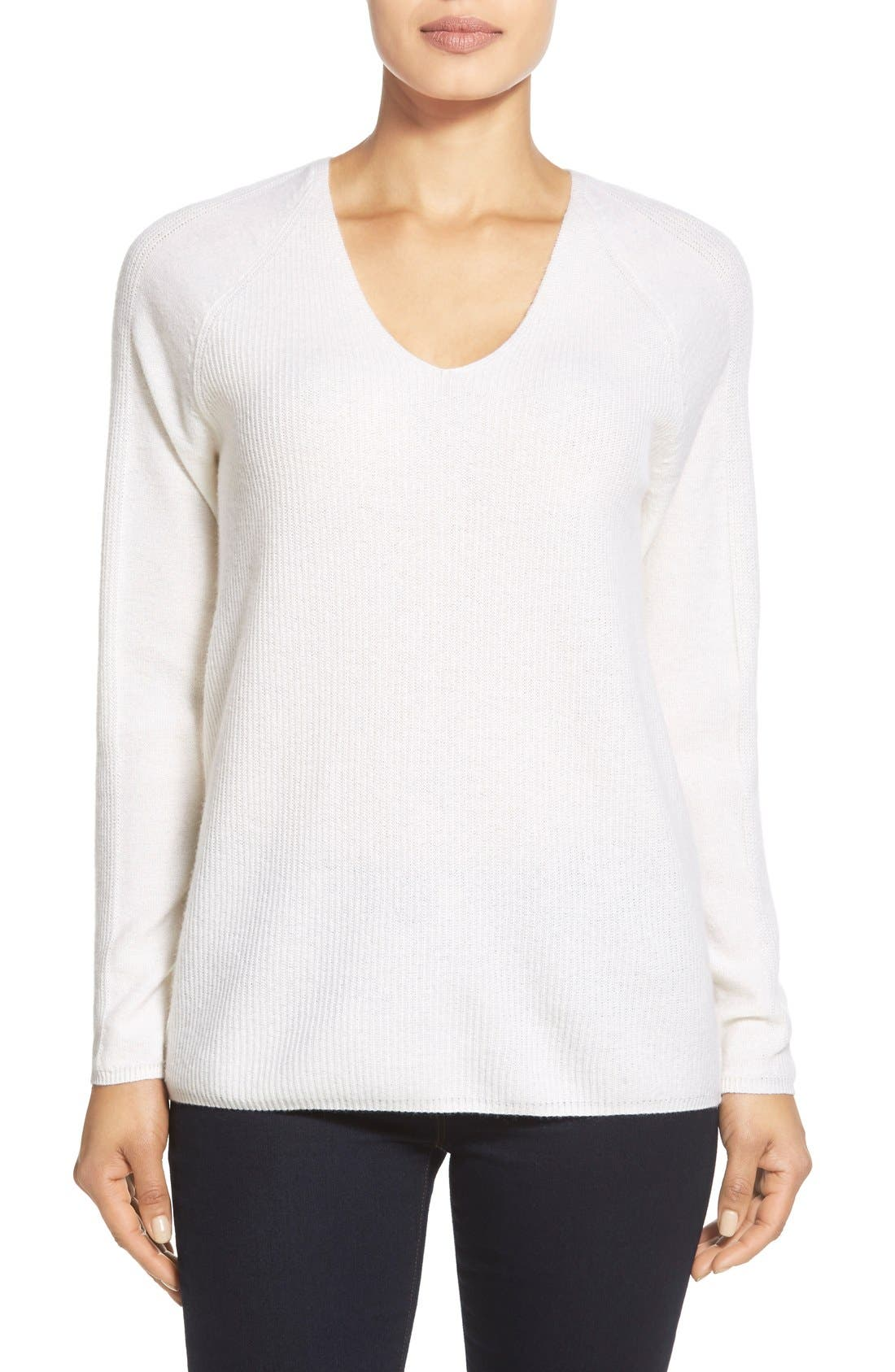 Main Image - Nordstrom Collection V-Neck Cashmere Sweater