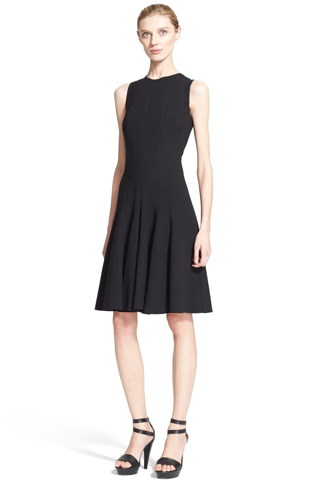 Alternate Image 1 Selected - Akris Sleeveless Godet Pleat Dress