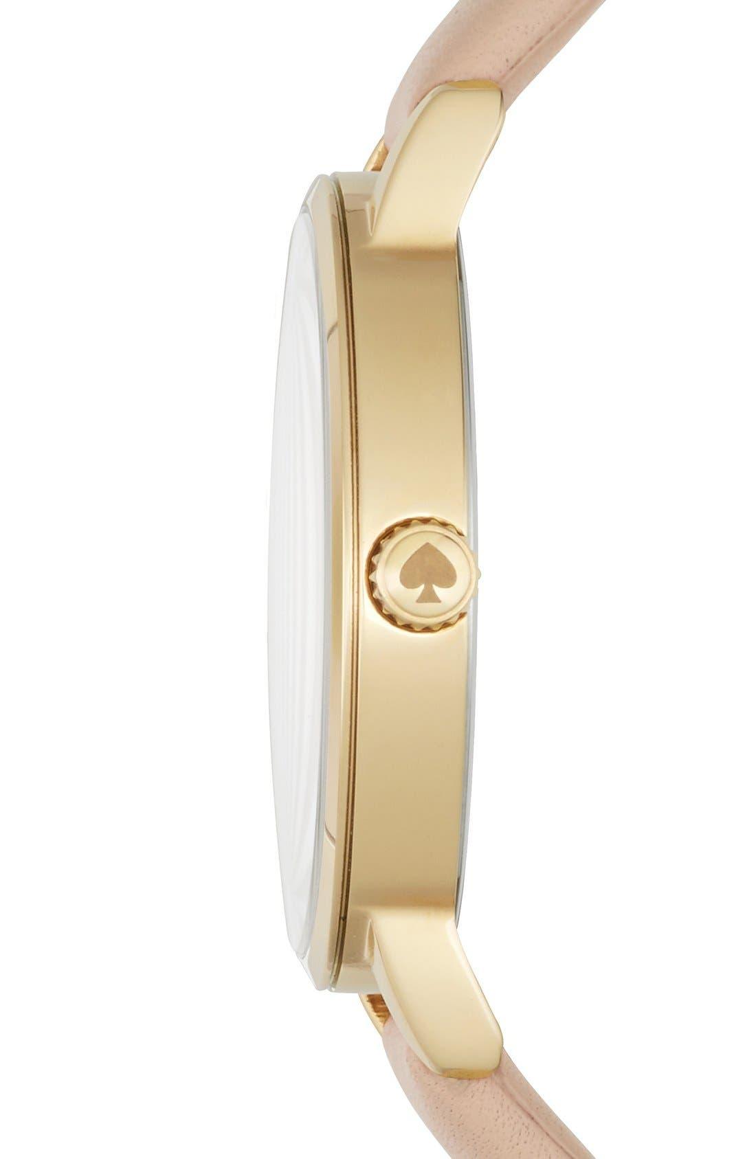 Alternate Image 3  - kate spade new york 'metro' leather strap watch, 34mm