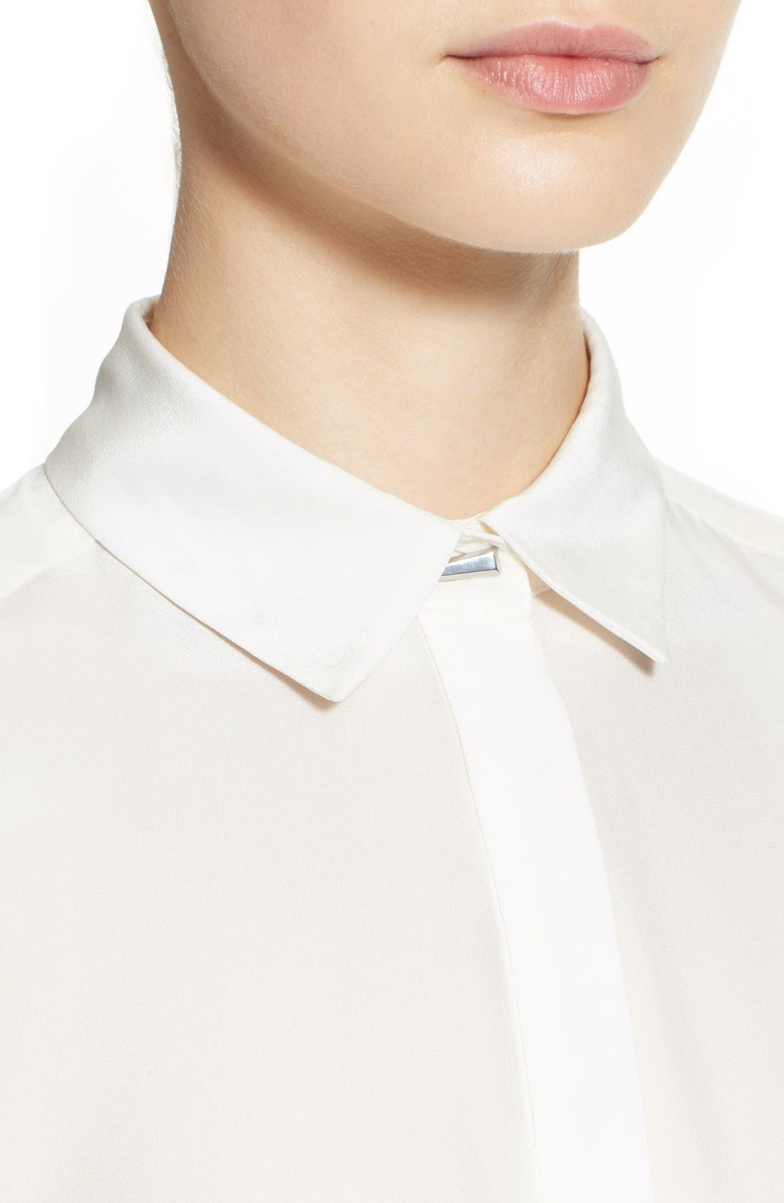 Alternate Image 6  - Prabal Gurung Button Front Silk Blouse