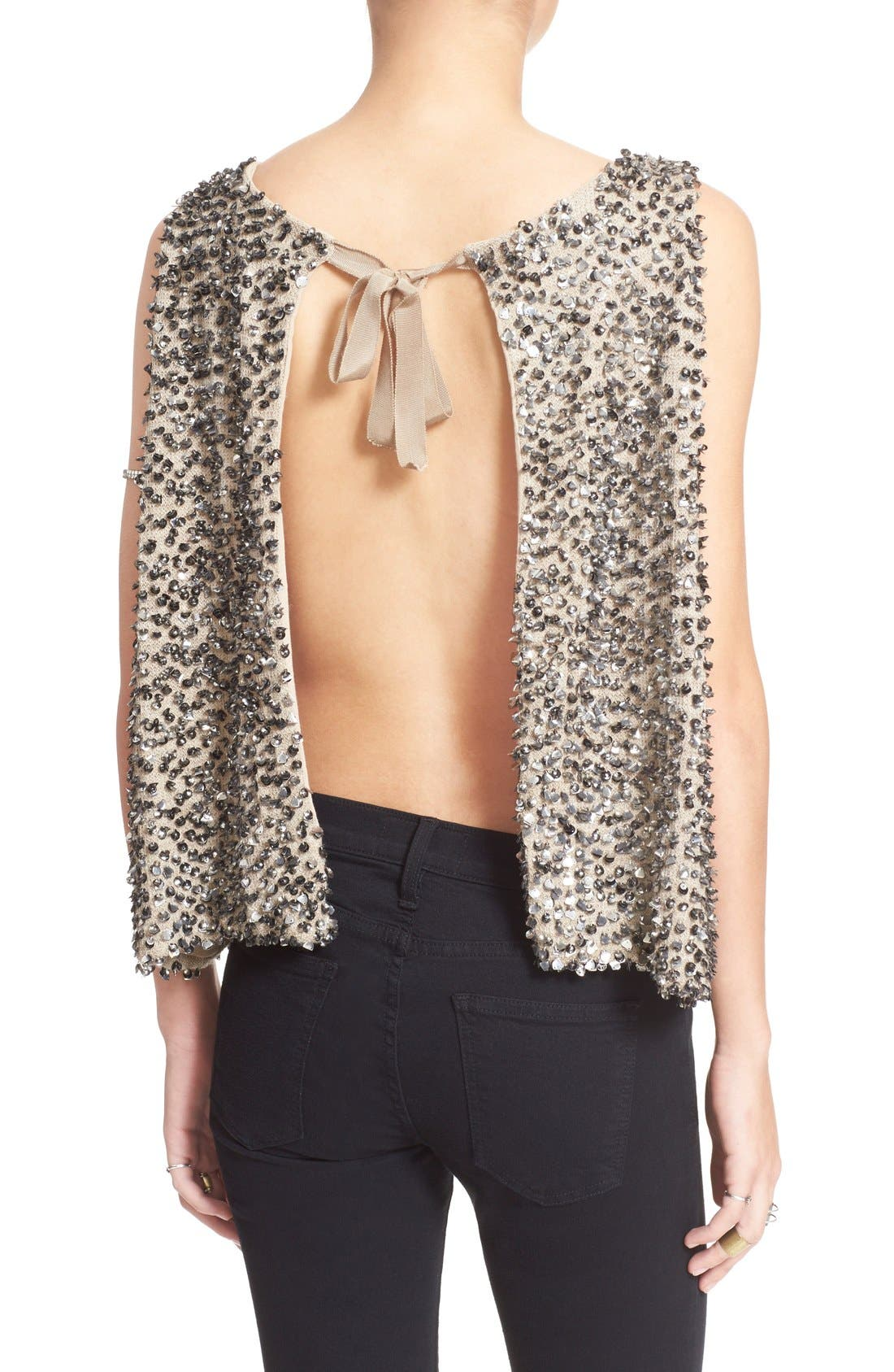 Alternate Image 2  - Free People Sequin Open Back Knit Shell