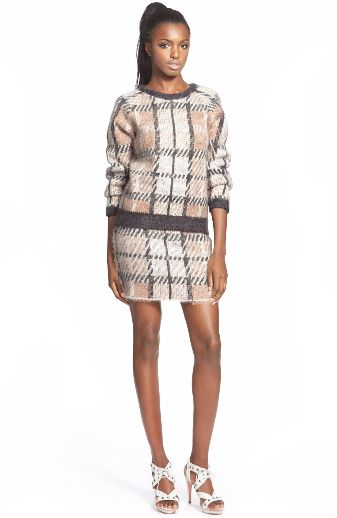 Alternate Image 2  - J.O.A. Plaid Crewneck Sweater