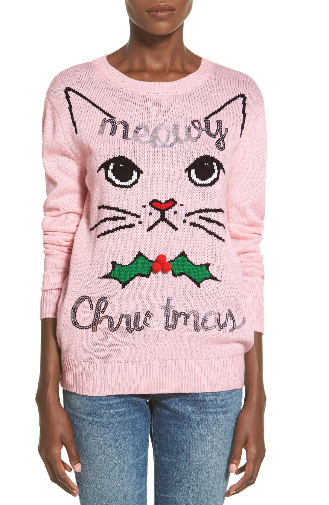 Ten Sixty Sherman 'Meowy Christmas' Sweater | Nordstrom