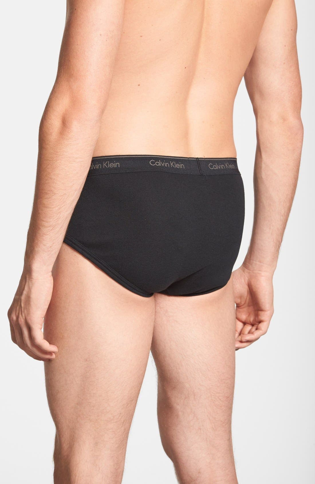 2-Pack Cotton Briefs,                             Alternate thumbnail 2, color,                             Black