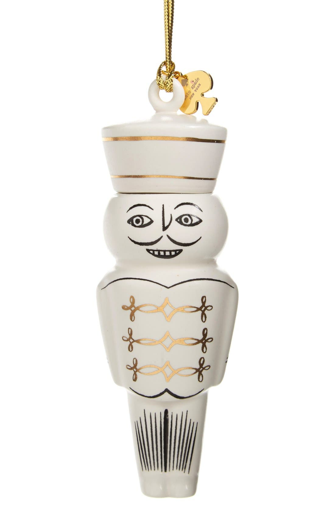 Alternate Image 1 Selected - kate spade new york porcelain nutcracker ornament