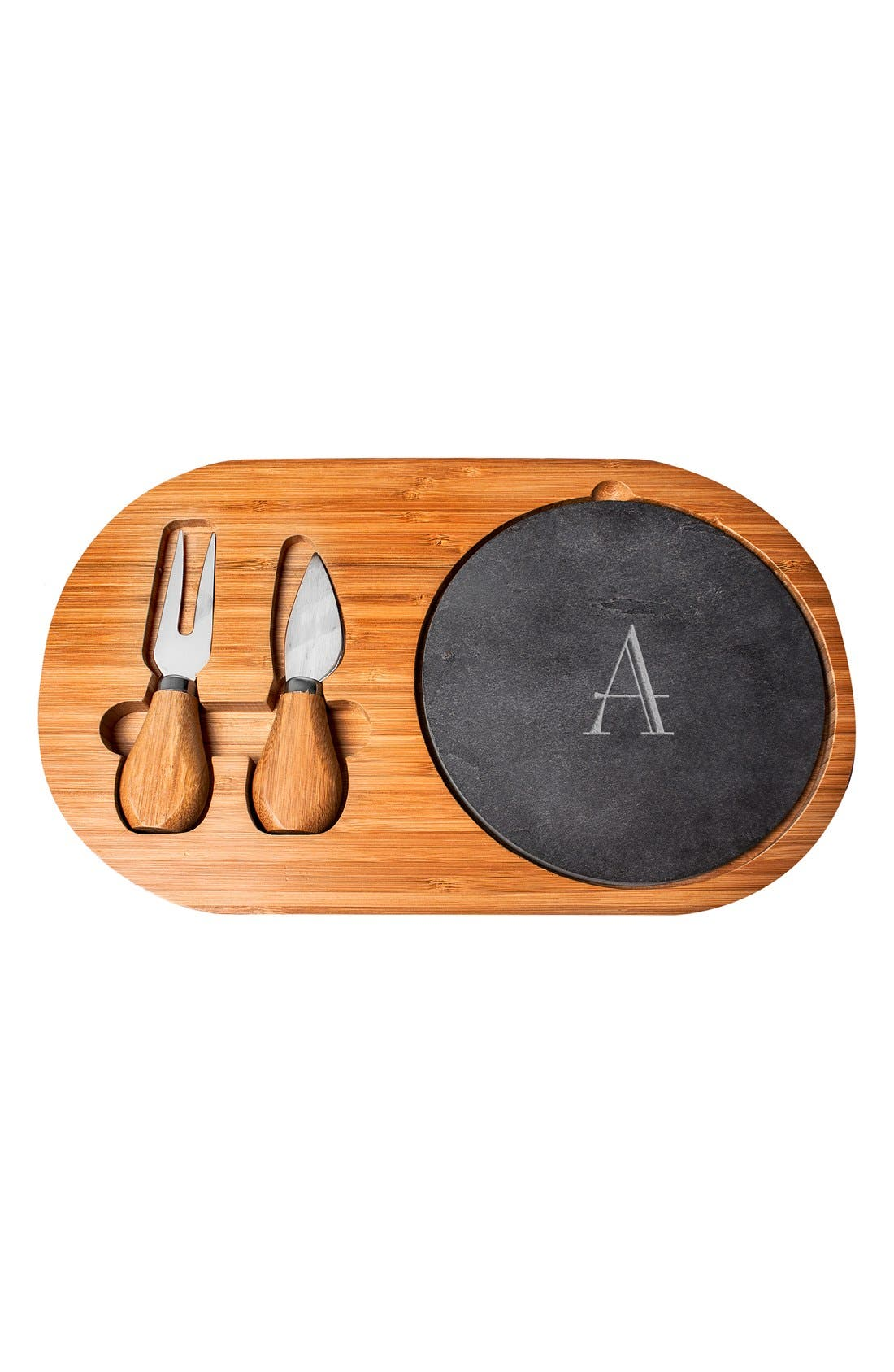 Cathy's Concepts Monogram Cheese Board & Utensils