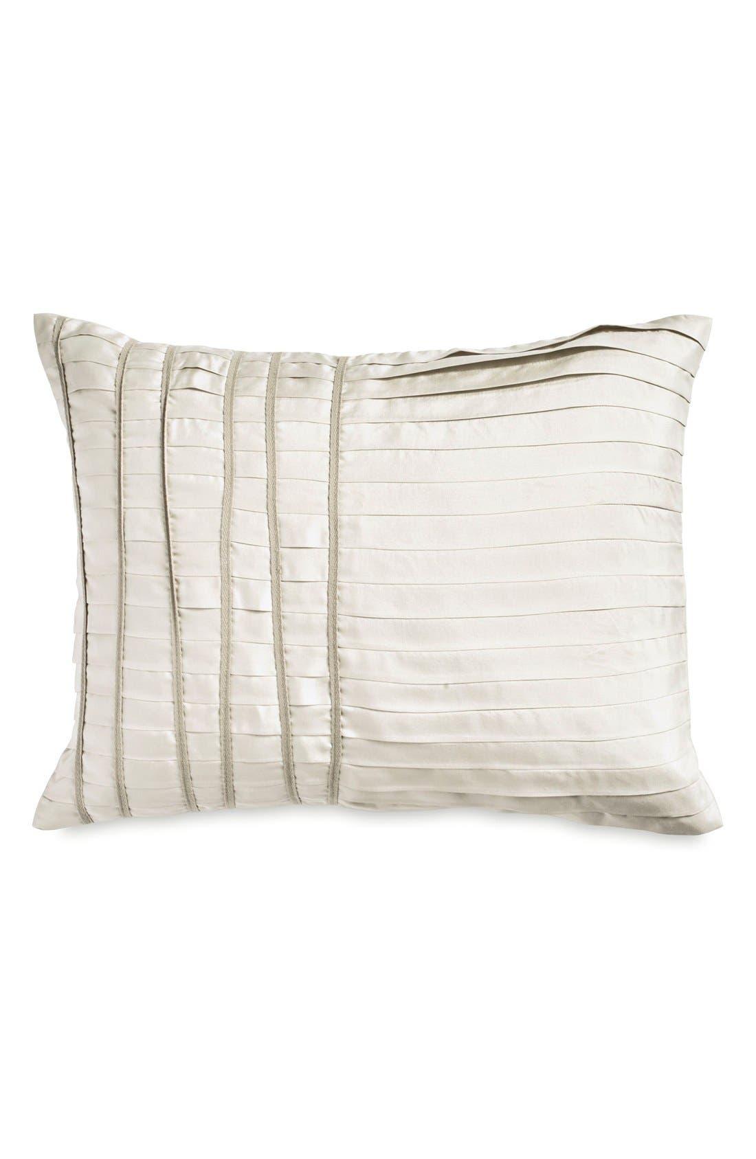 Donna Karan Collection 'Silk Essentials' Pillow,                             Main thumbnail 1, color,                             Pearl